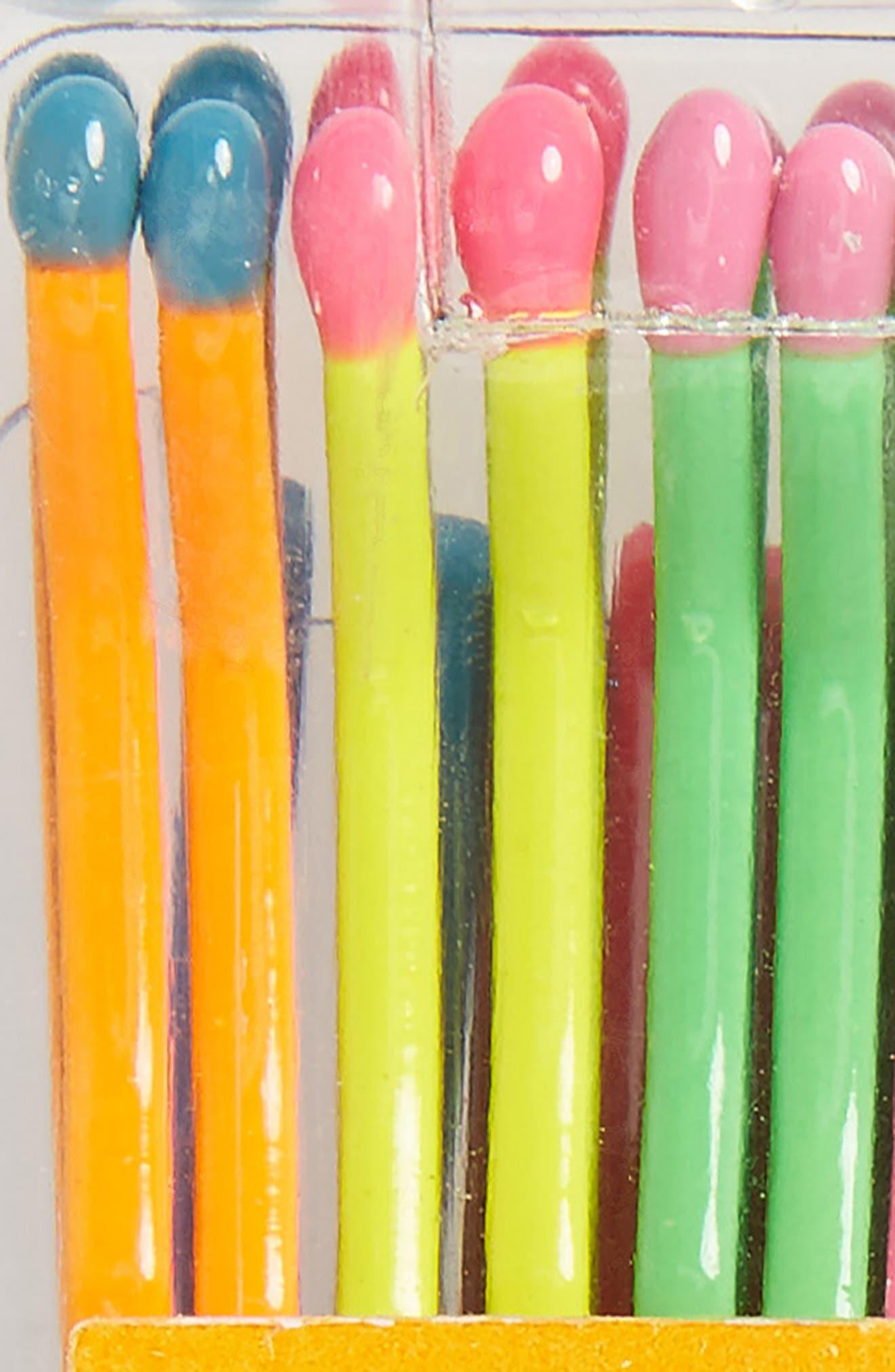 Alternate Image 2  - Jane Tran Neon Rainbow Matchsticks Set of 20 Assorted Bobby Pins