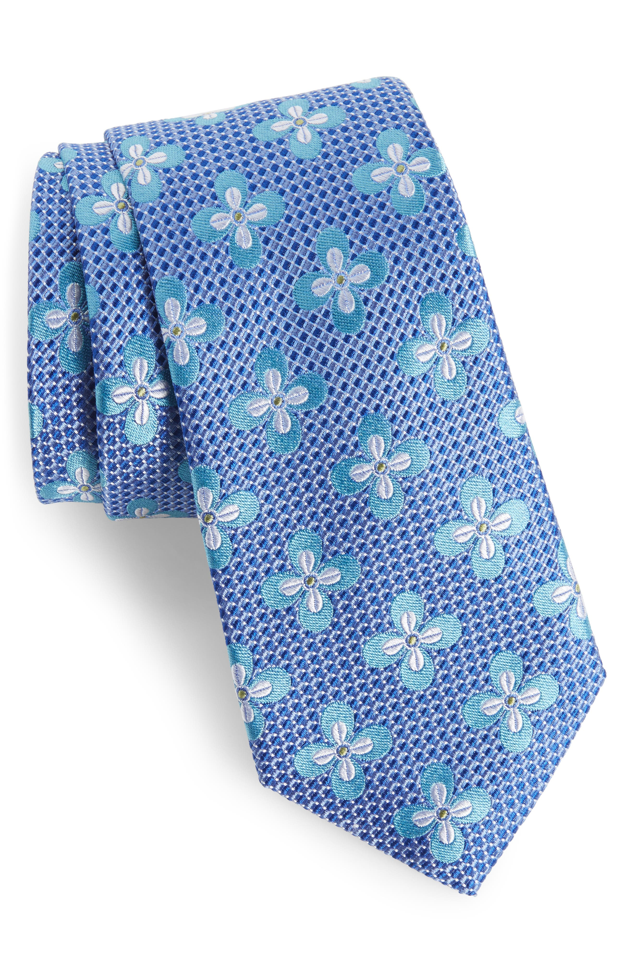 Alternate Image 1 Selected - Nordstrom Men's Shop Floral Silk Tie