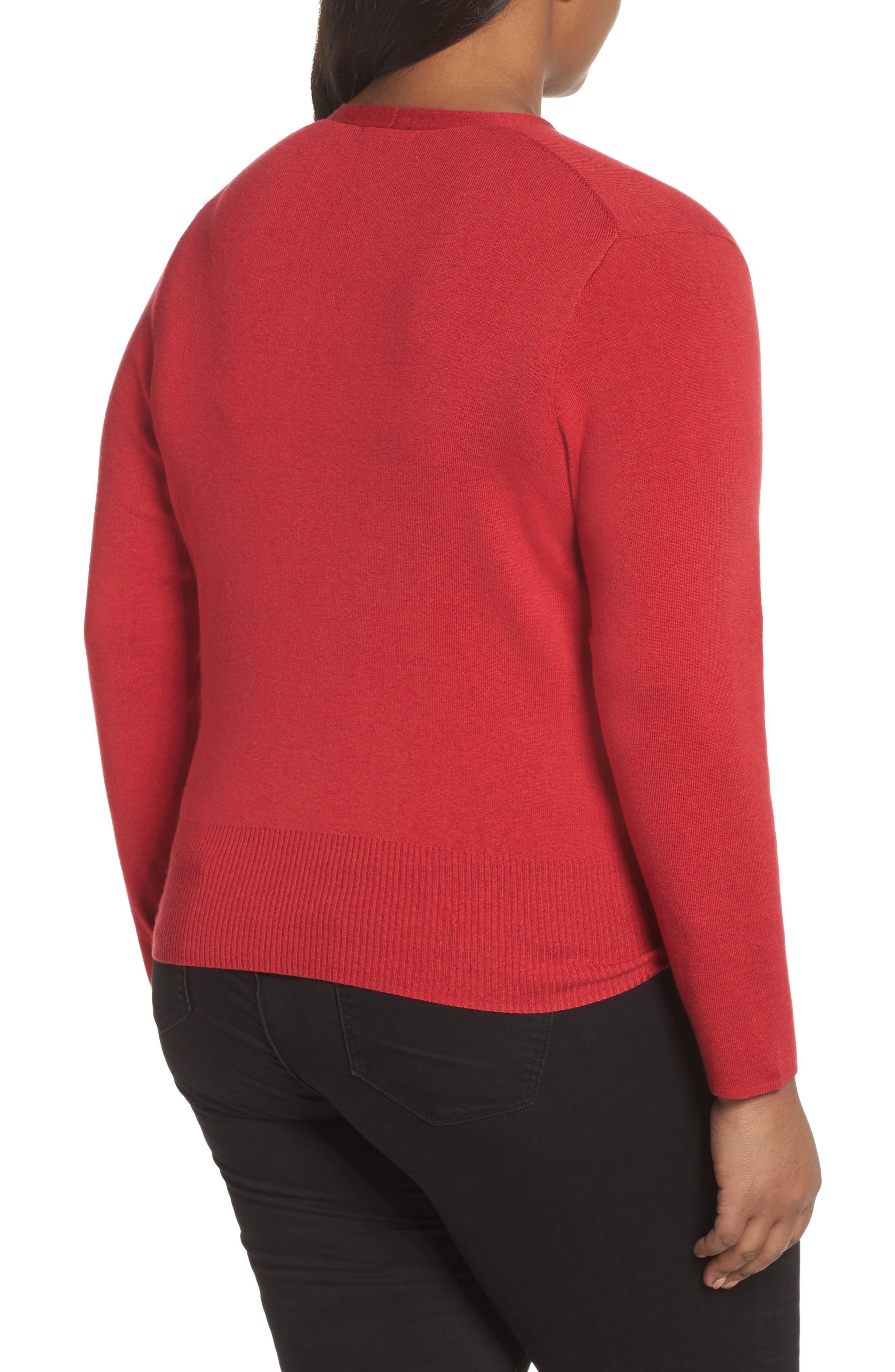 4-Way Convertible Cardigan,                             Alternate thumbnail 2, color,                             True Red