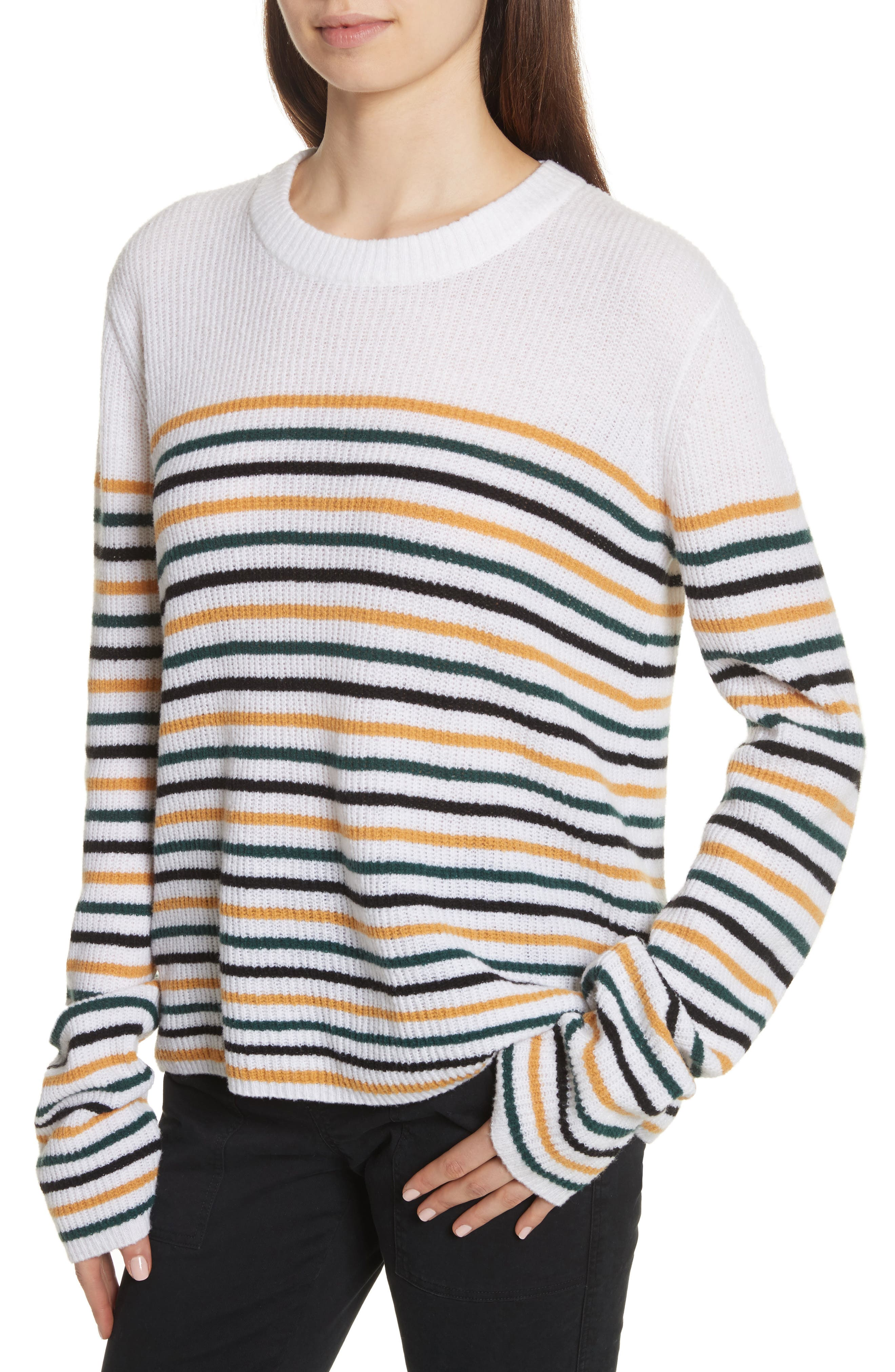 Alternate Image 4  - A.L.C. Meryl Stripe Sweater