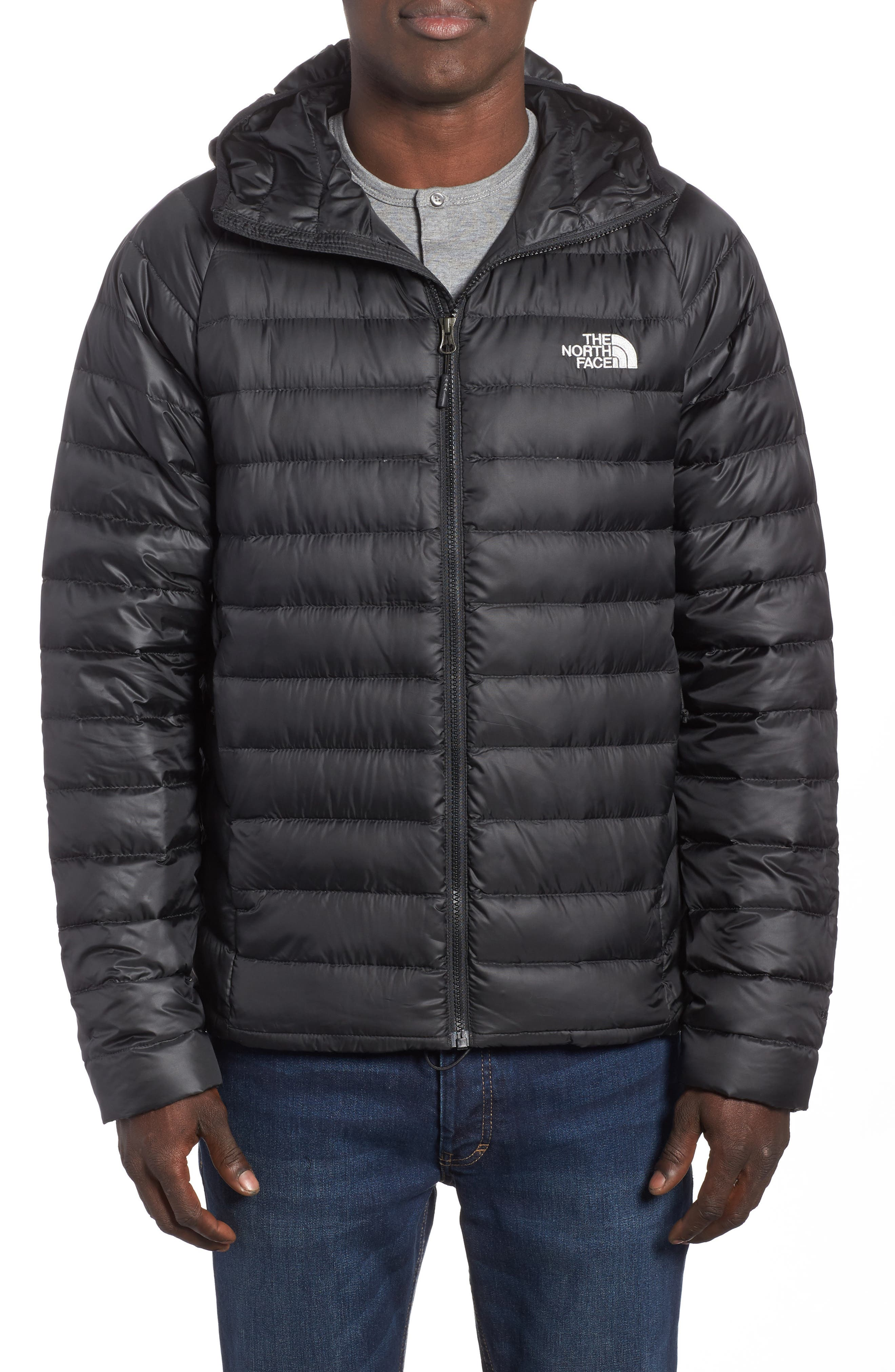 Main Image - The North Face Trevail Water Repellent Packable 800-Fill-Power Down Hooded Jacket