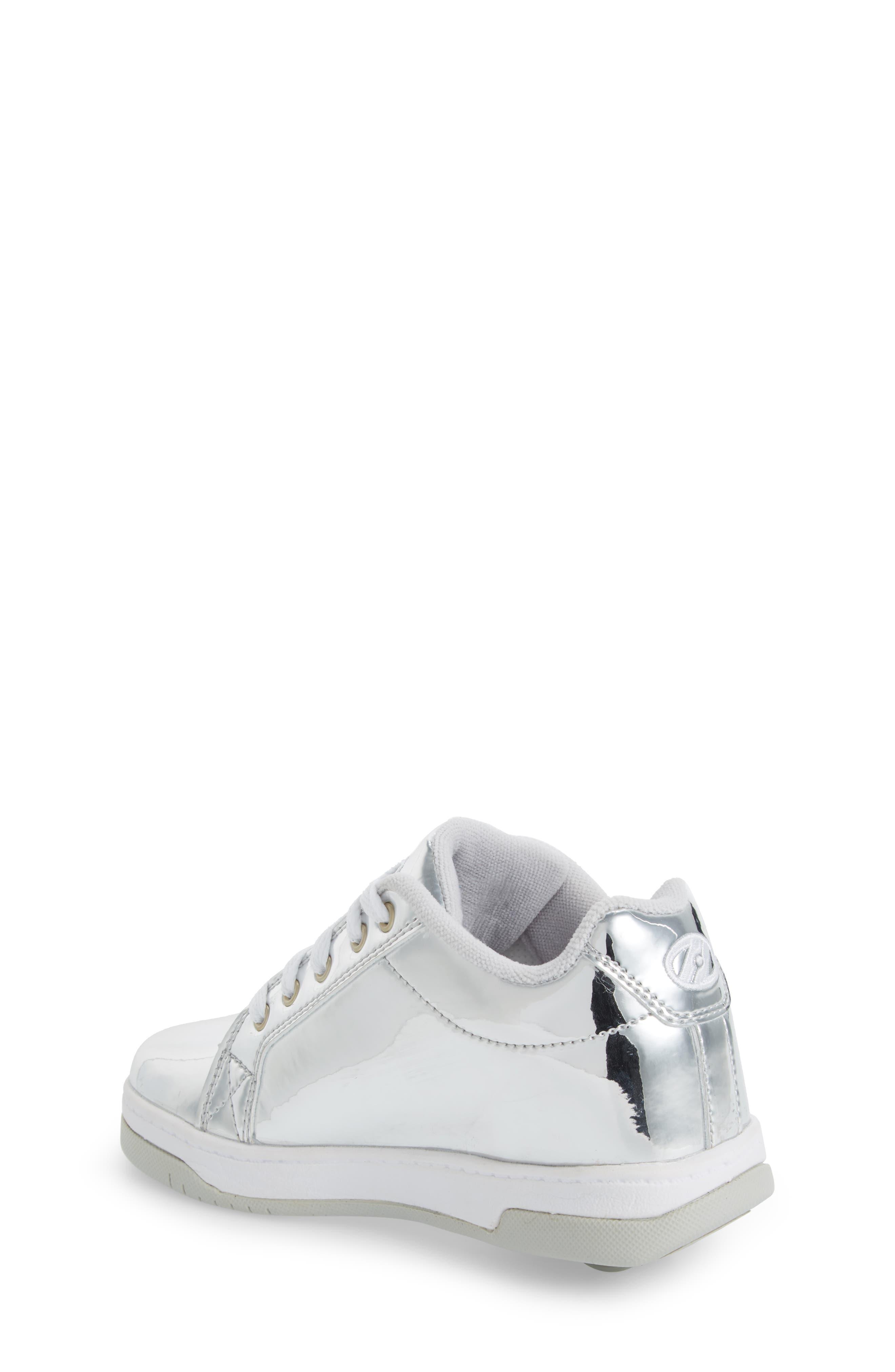 Split Skate Sneaker,                             Alternate thumbnail 2, color,                             Silver