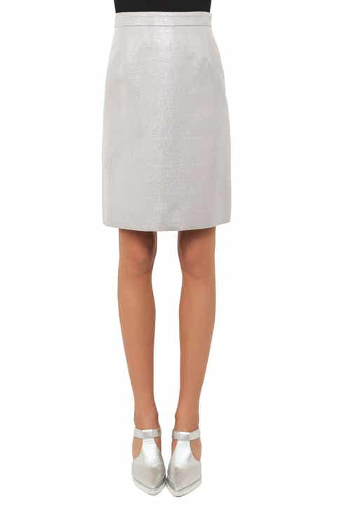 Akris punto Metallic A-Line Skirt