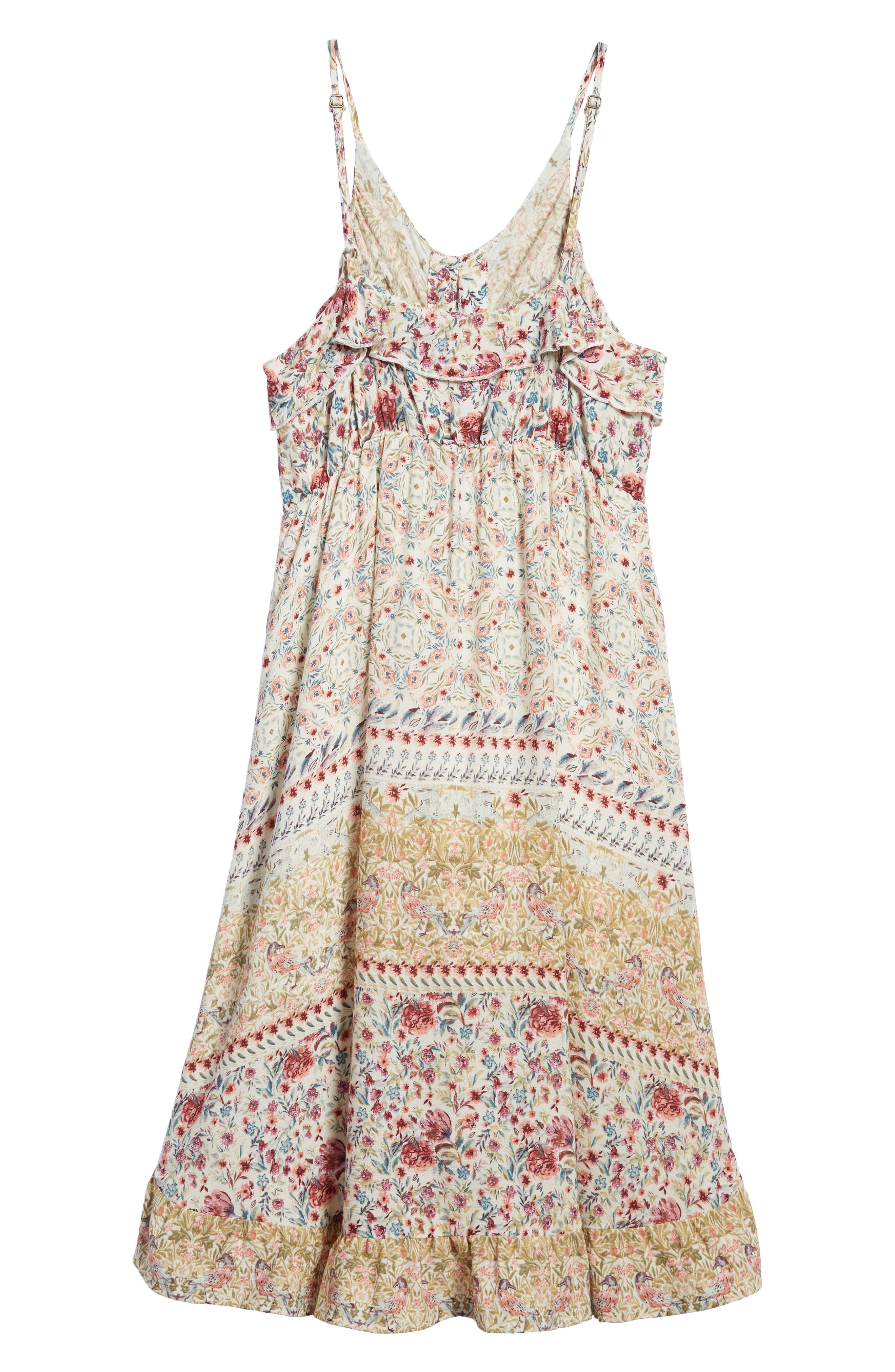 Brooklyn Mixed Print Sundress,                             Alternate thumbnail 2, color,                             Naked - Wwh