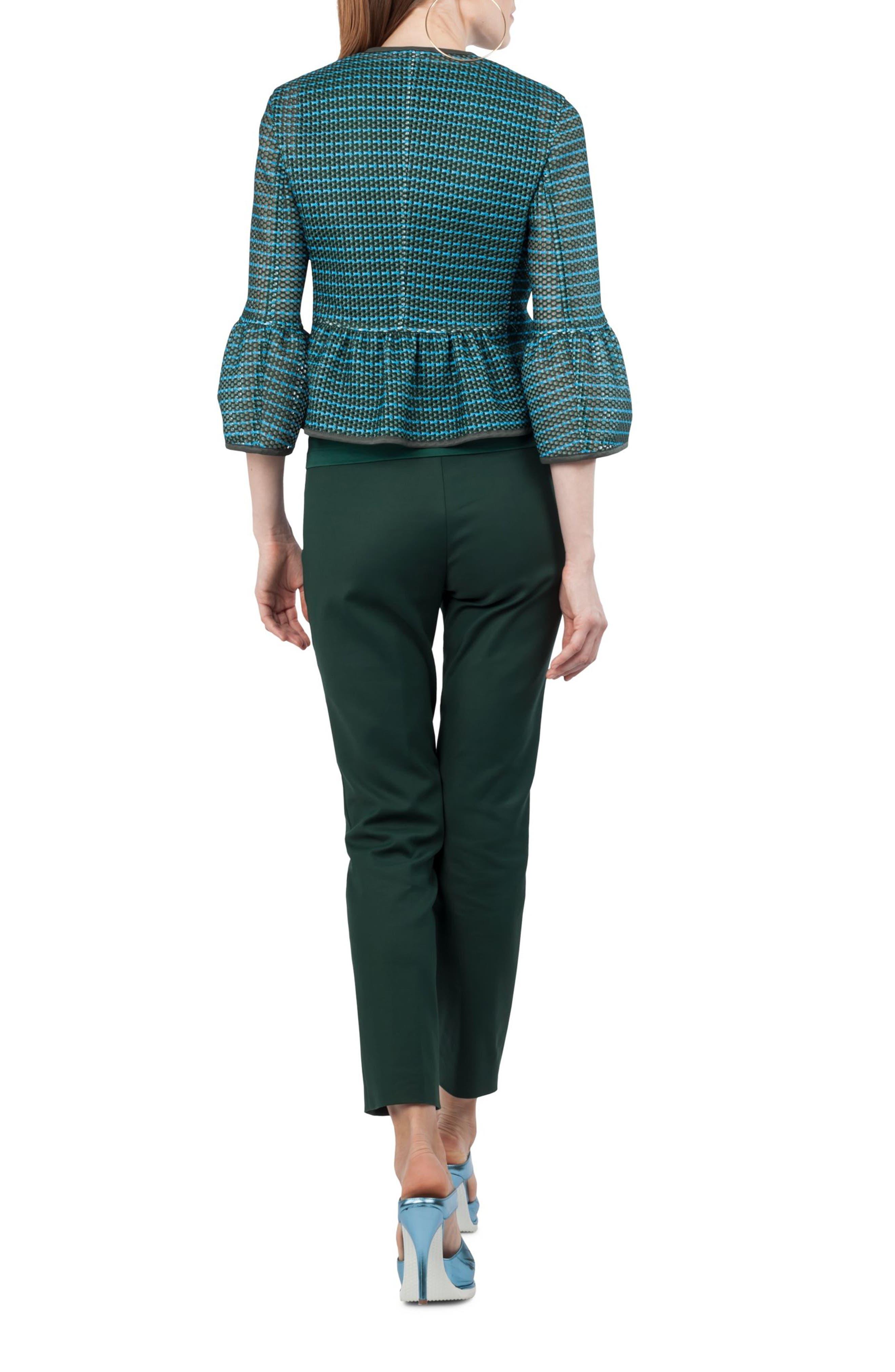 Stripe Mesh Jacket,                             Alternate thumbnail 2, color,                             Palm Leaf / Turquoise