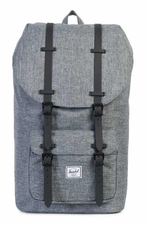 Mens Backpacks Canvas Leather