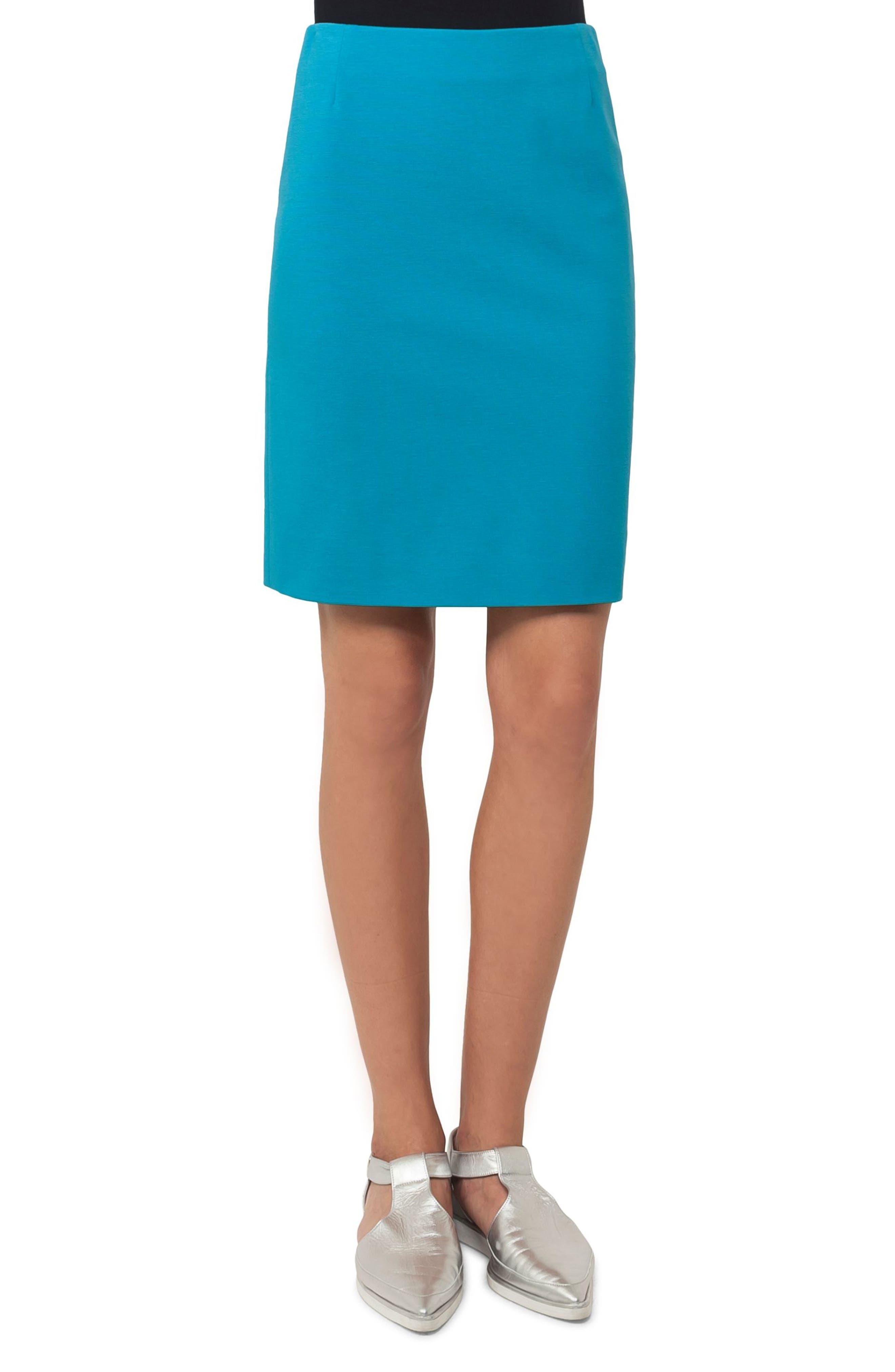 Main Image - Akris punto Jersey Miniskirt