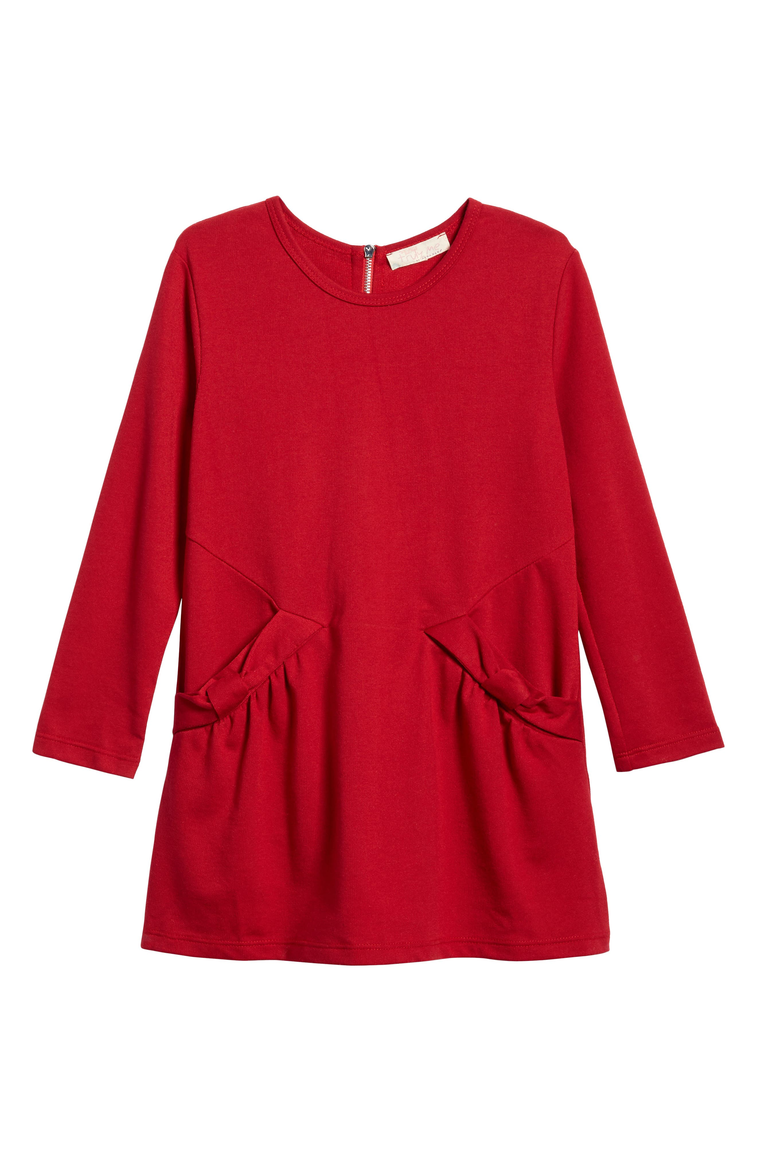 Truly Me Bow Pocket Knit Dress (Toddler Girls & Little Girls)