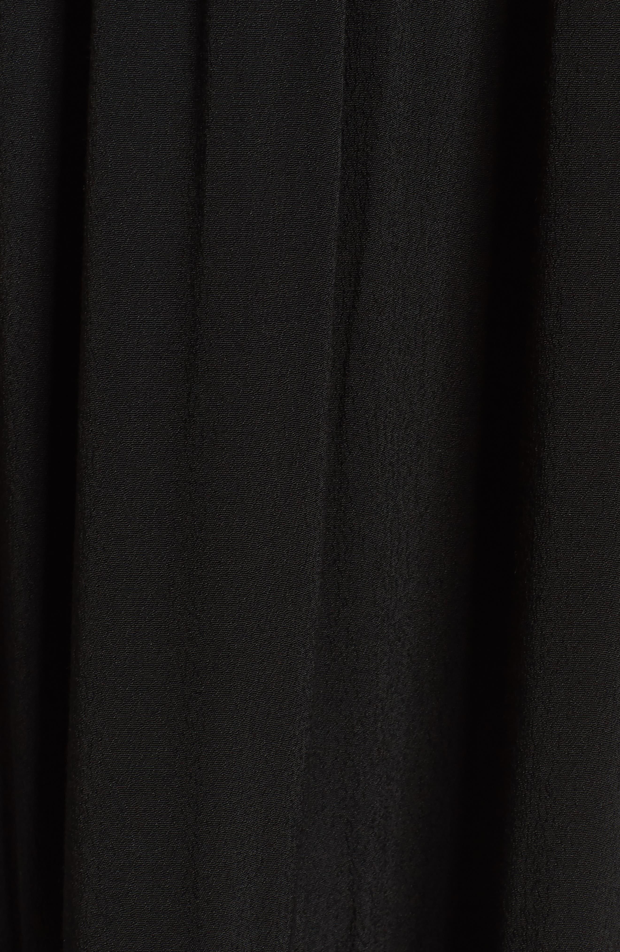 Luna Midi Dress,                             Alternate thumbnail 5, color,                             Black