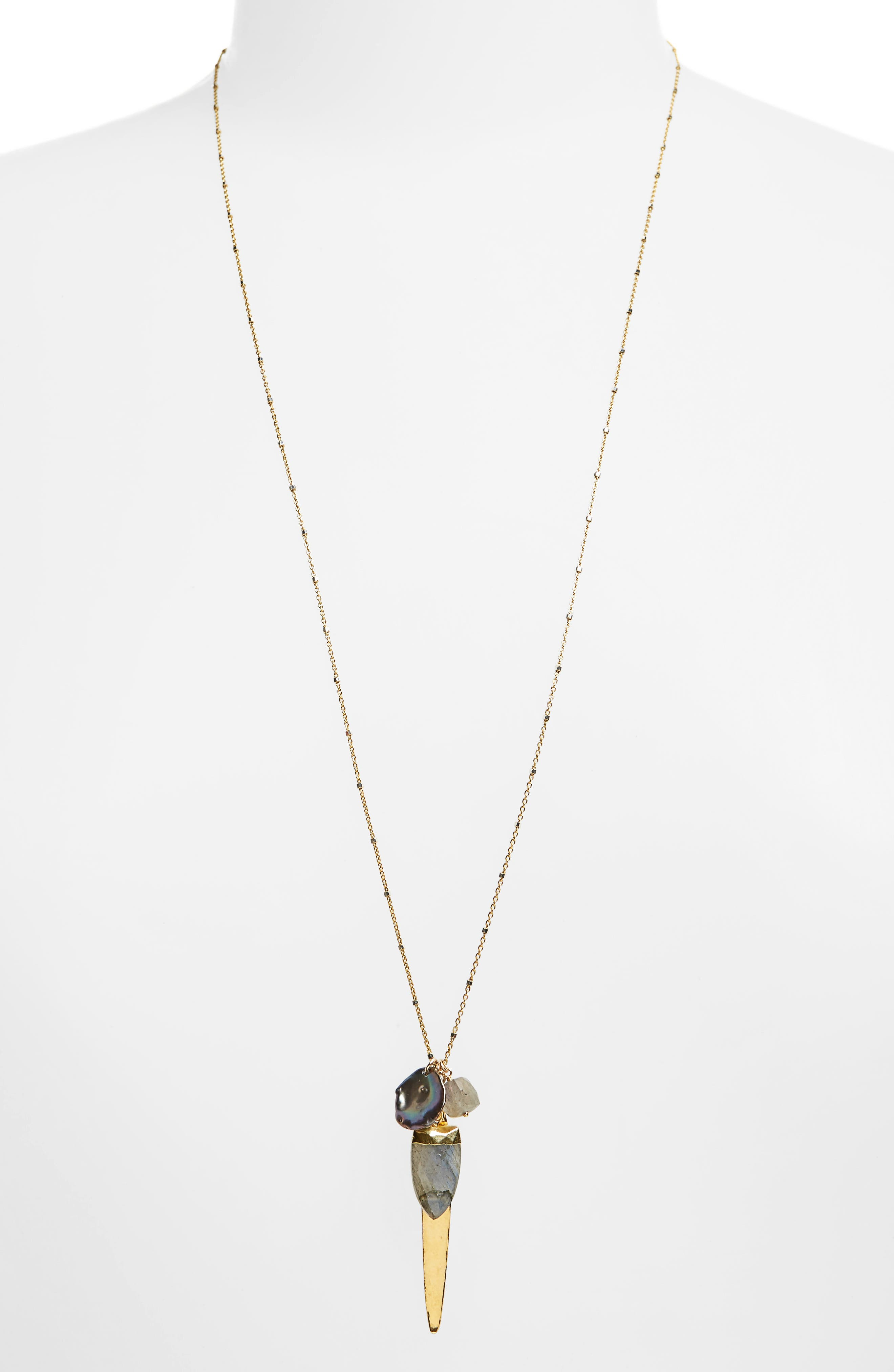 Chan Luu Labradorite Mix Charm Necklace