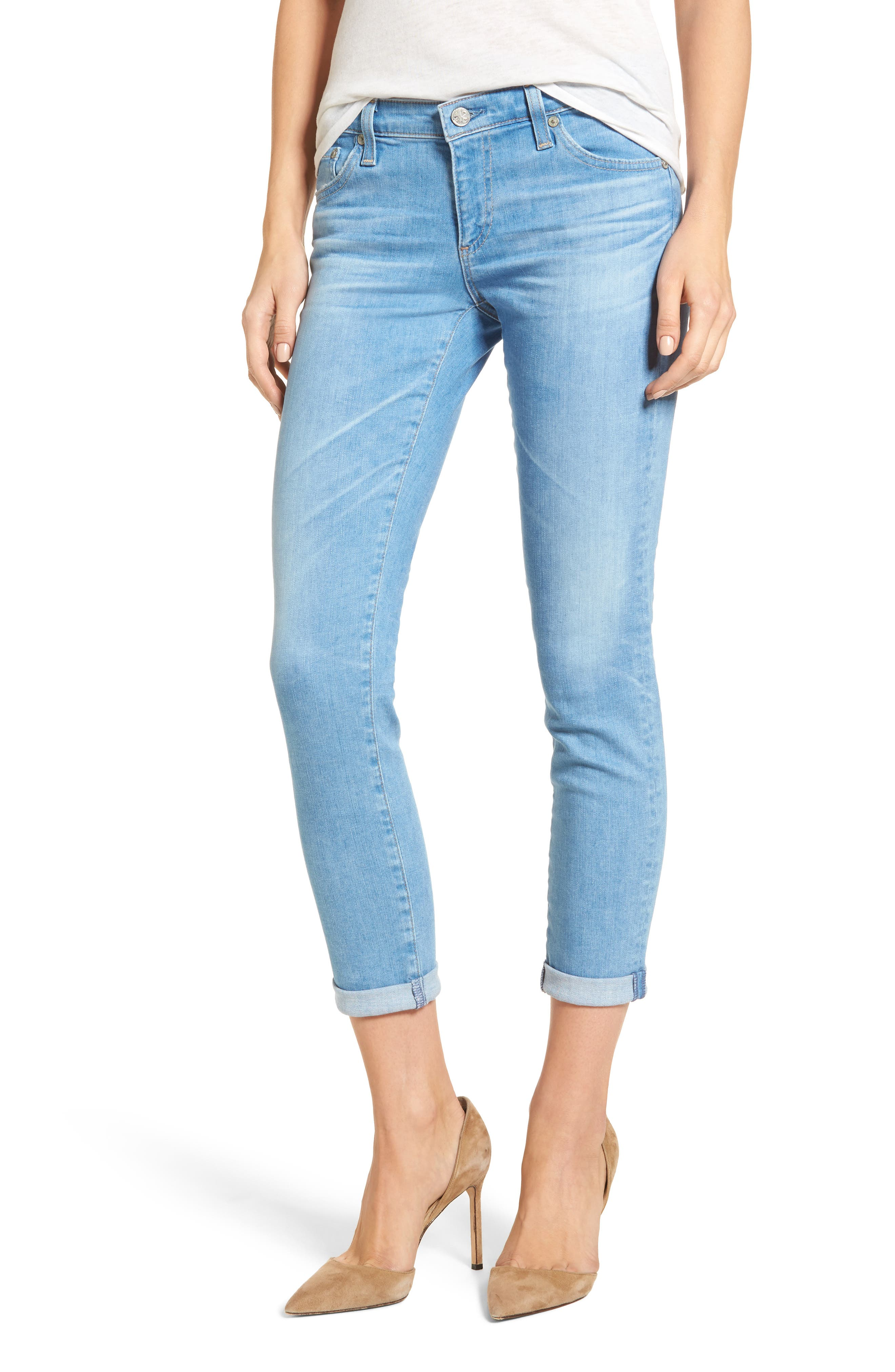 Main Image - AG The Stilt Crop Skinny Jeans (20 Years Freshwater)