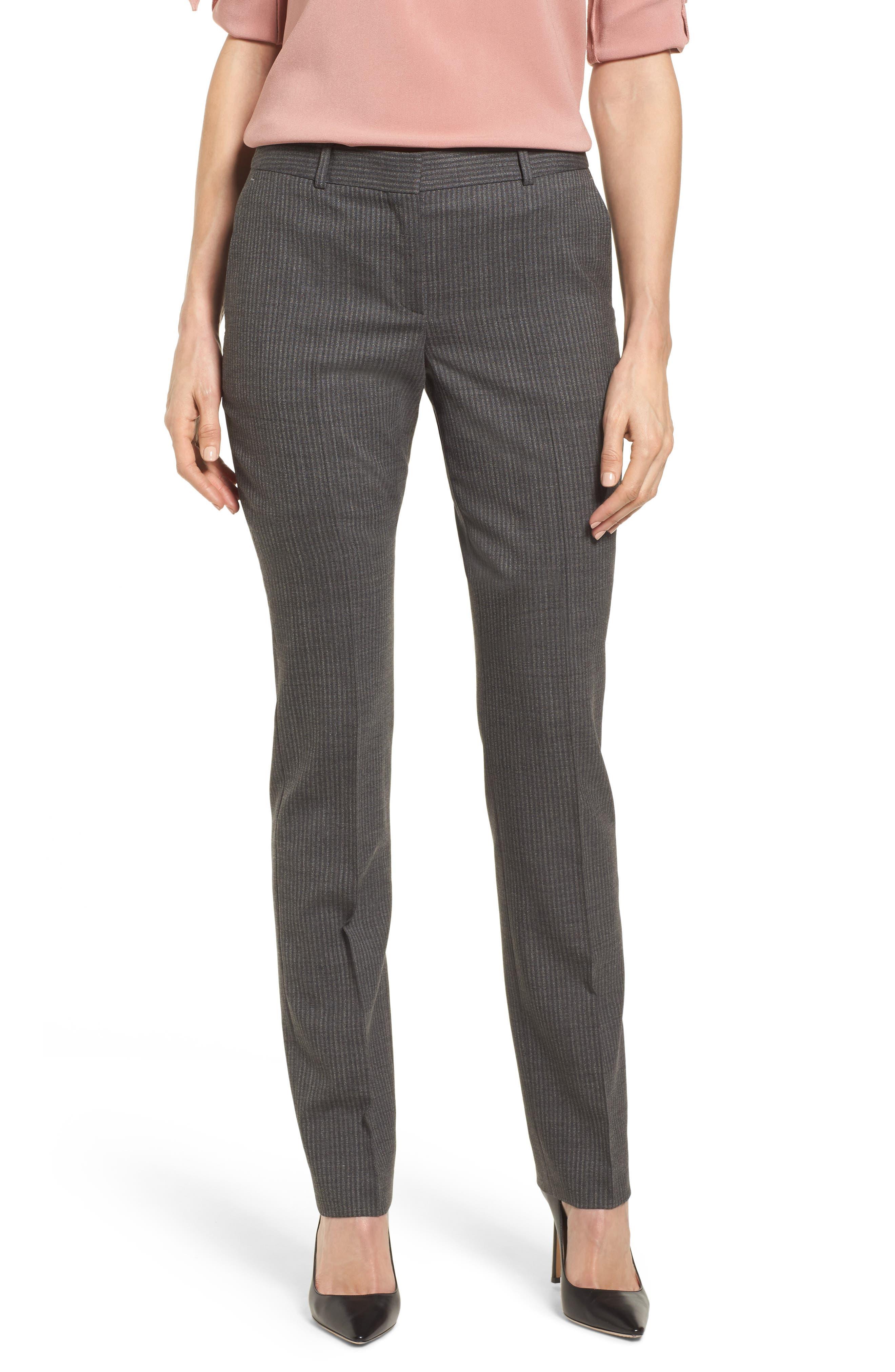 Titana Stretch Wool Trousers,                         Main,                         color, Dark Grey Fantasy