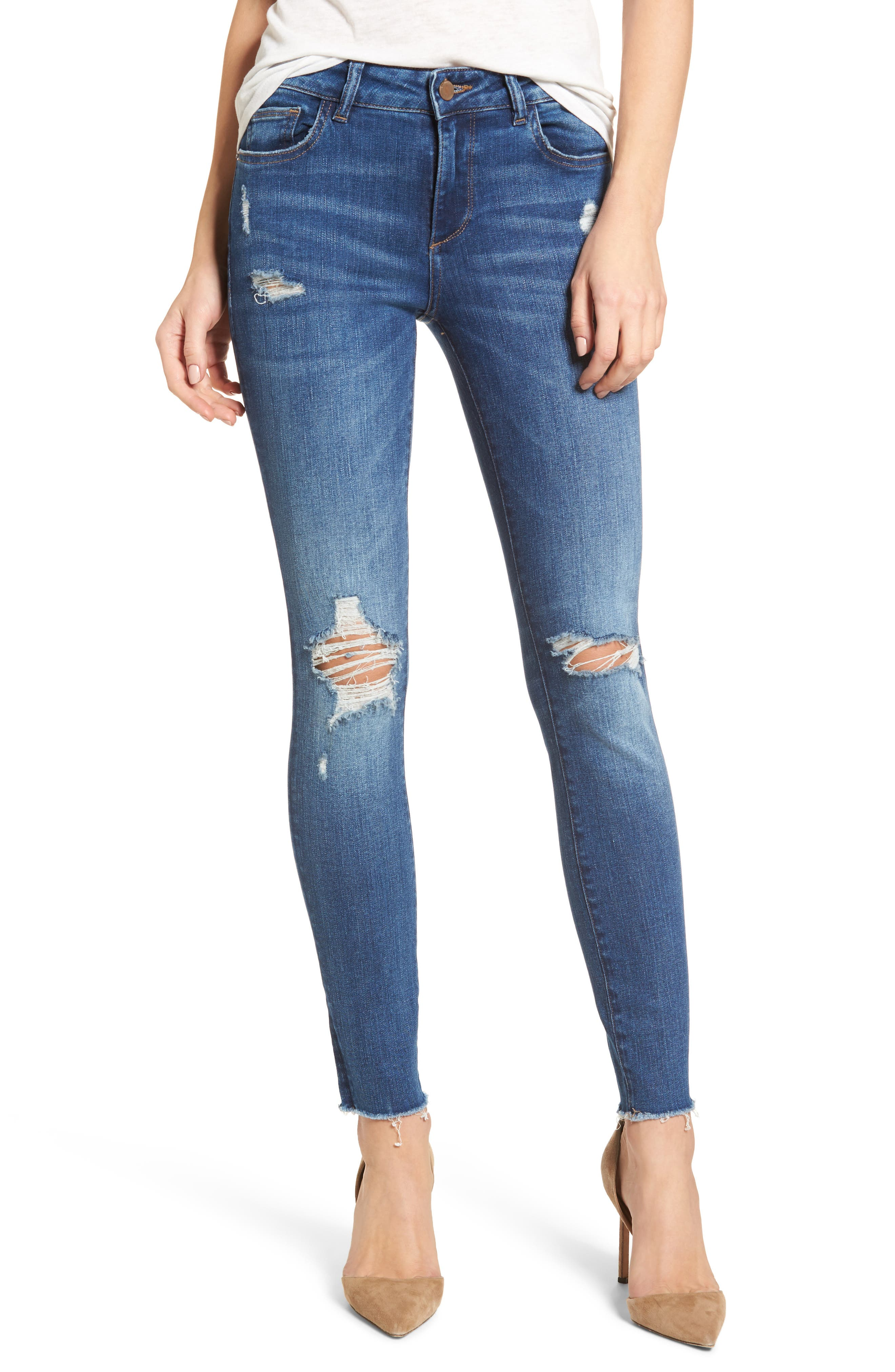 Margaux Instasculpt Ankle Skinny Jeans,                             Main thumbnail 1, color,                             Lowell