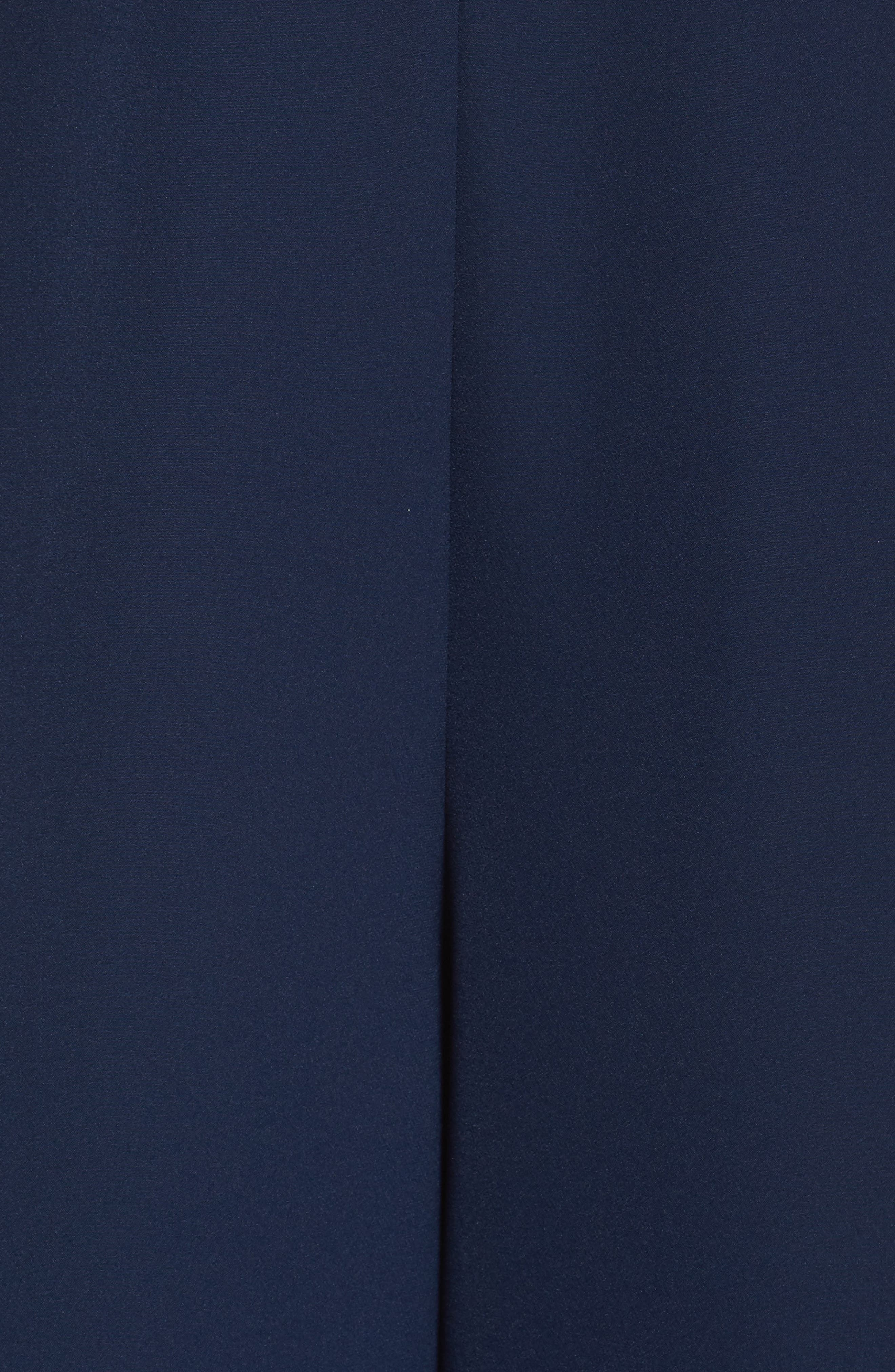 Pleated Wide Leg Pants,                             Alternate thumbnail 5, color,                             Navy