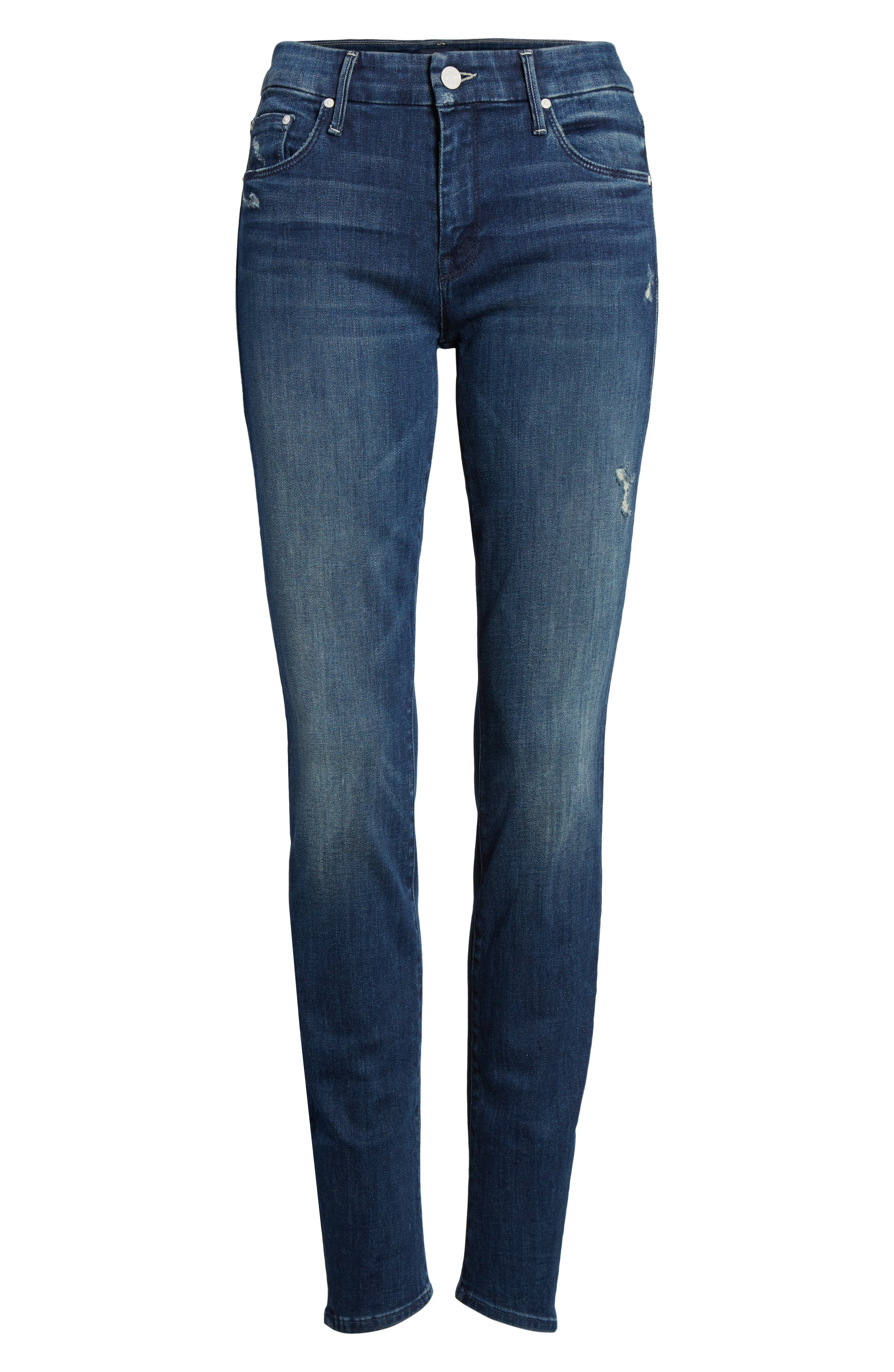 The Looker High Waist Skinny Jeans,                             Alternate thumbnail 7, color,                             Dark Graffiti