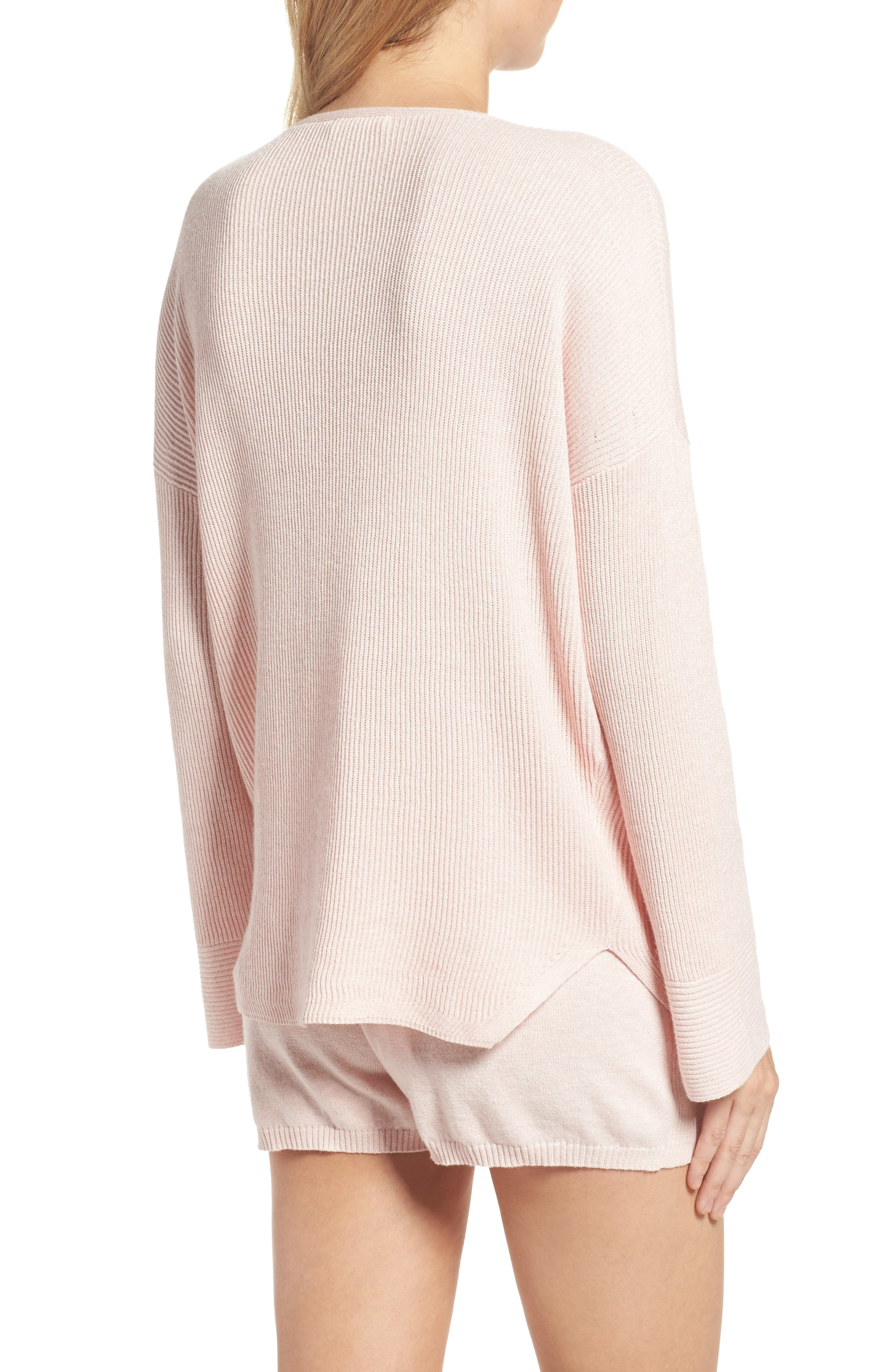 Veronica Lounge Pullover,                             Alternate thumbnail 2, color,                             Soft Pink