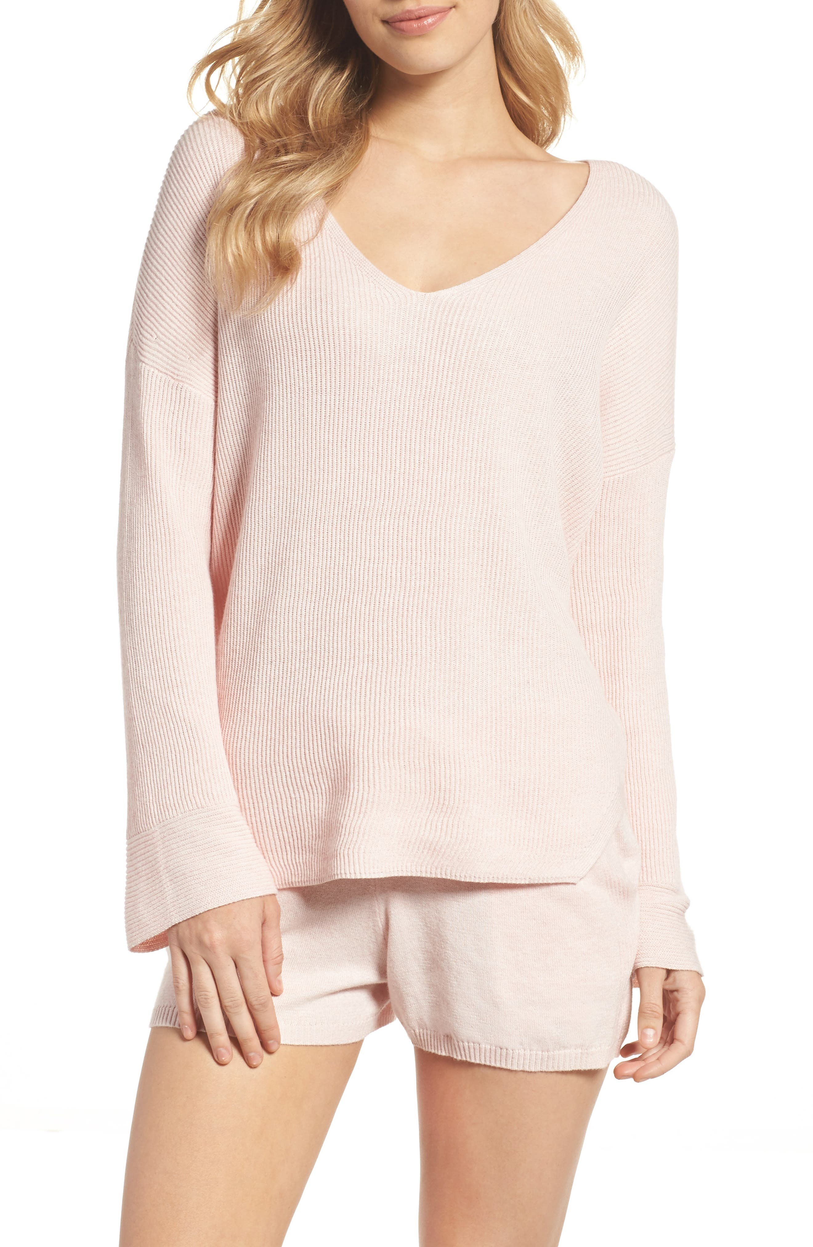 Veronica Lounge Pullover,                             Alternate thumbnail 5, color,                             Soft Pink