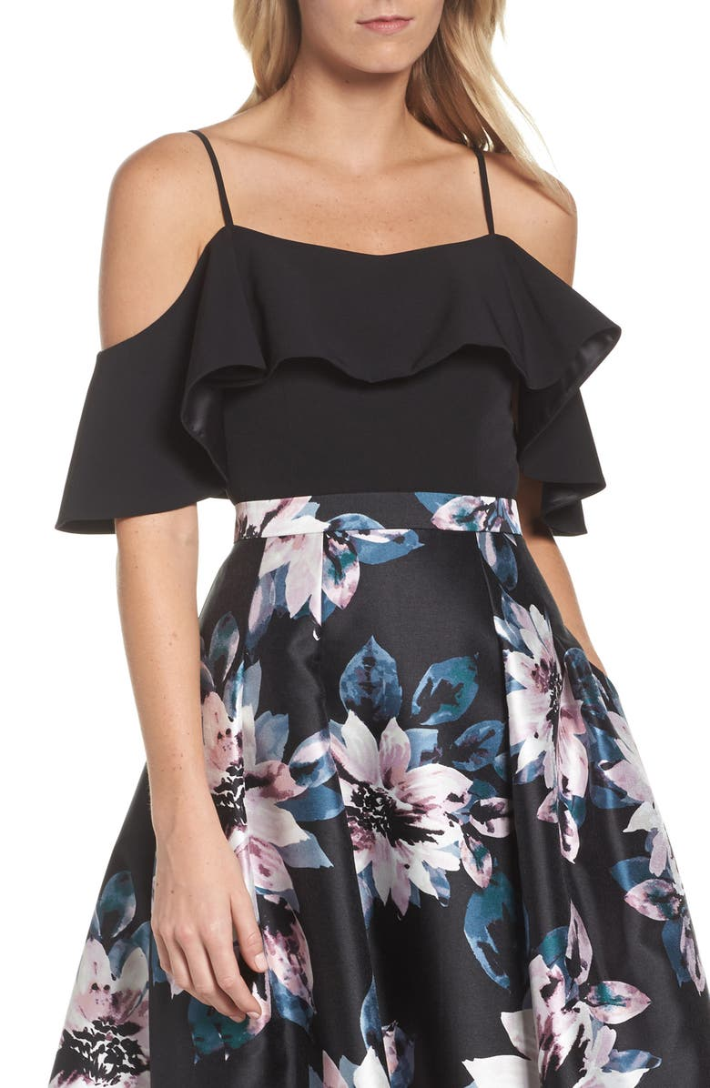 688dbe7f1f034 Eliza J Off The Shoulder Bell Sleeve Top In Black