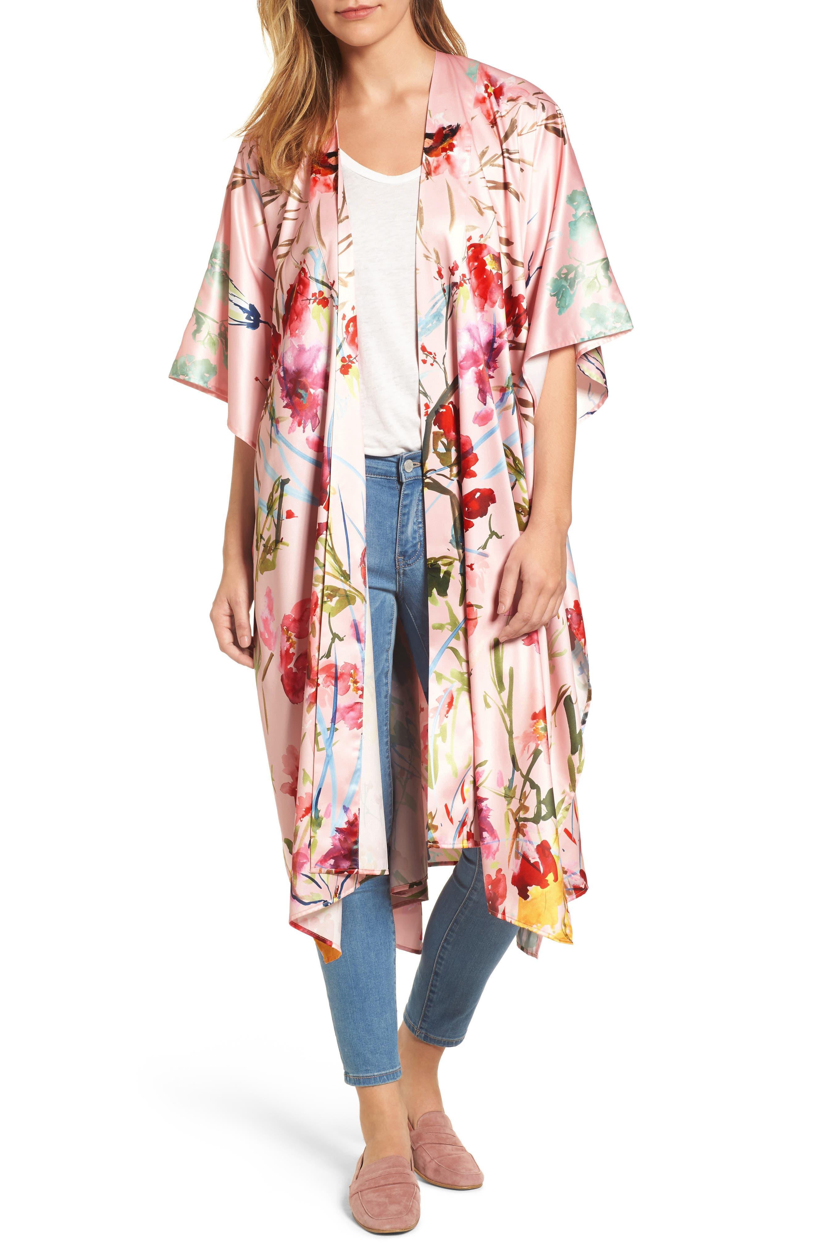 Alternate Image 1 Selected - Nordstrom Floral Kimono