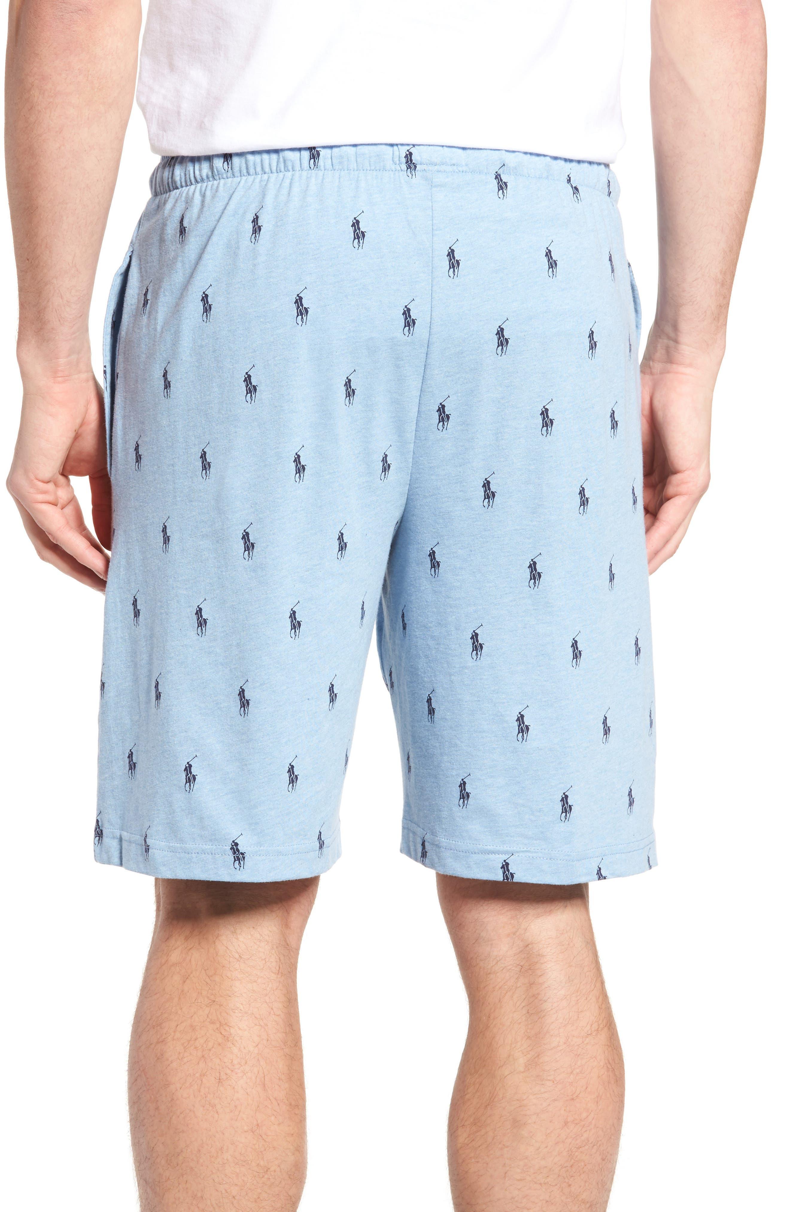 Alternate Image 2  - Ralph Lauren Print Jersey Pajama Shorts