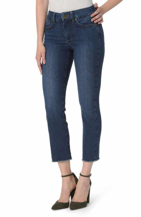NYDJ Sheri High Waist Frayed Hem Slim Ankle Jeans (Cooper) by NYDJ