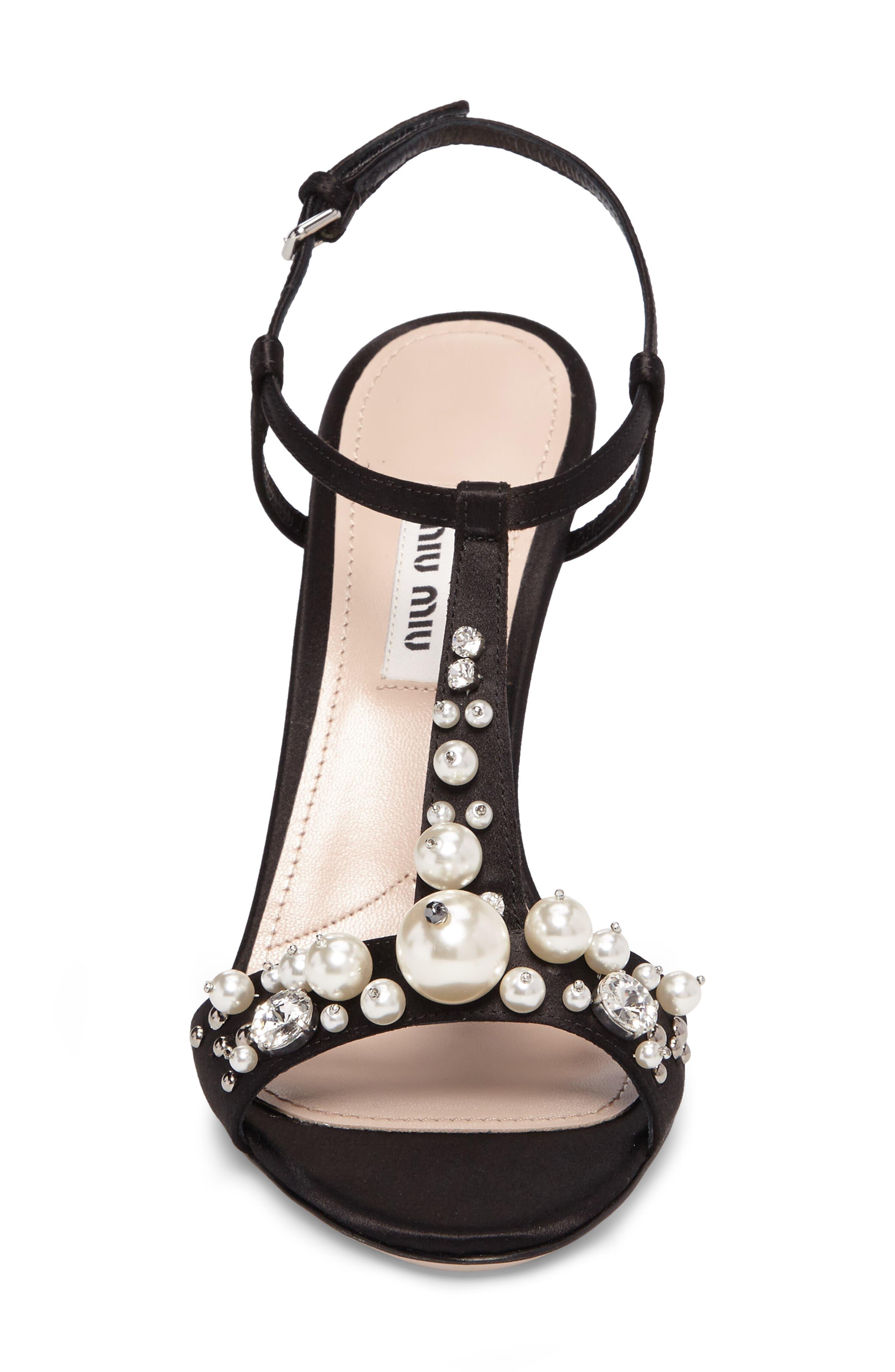 Alternate Image 5  - Miu Miu Embellished T-Strap Sandal (Women)