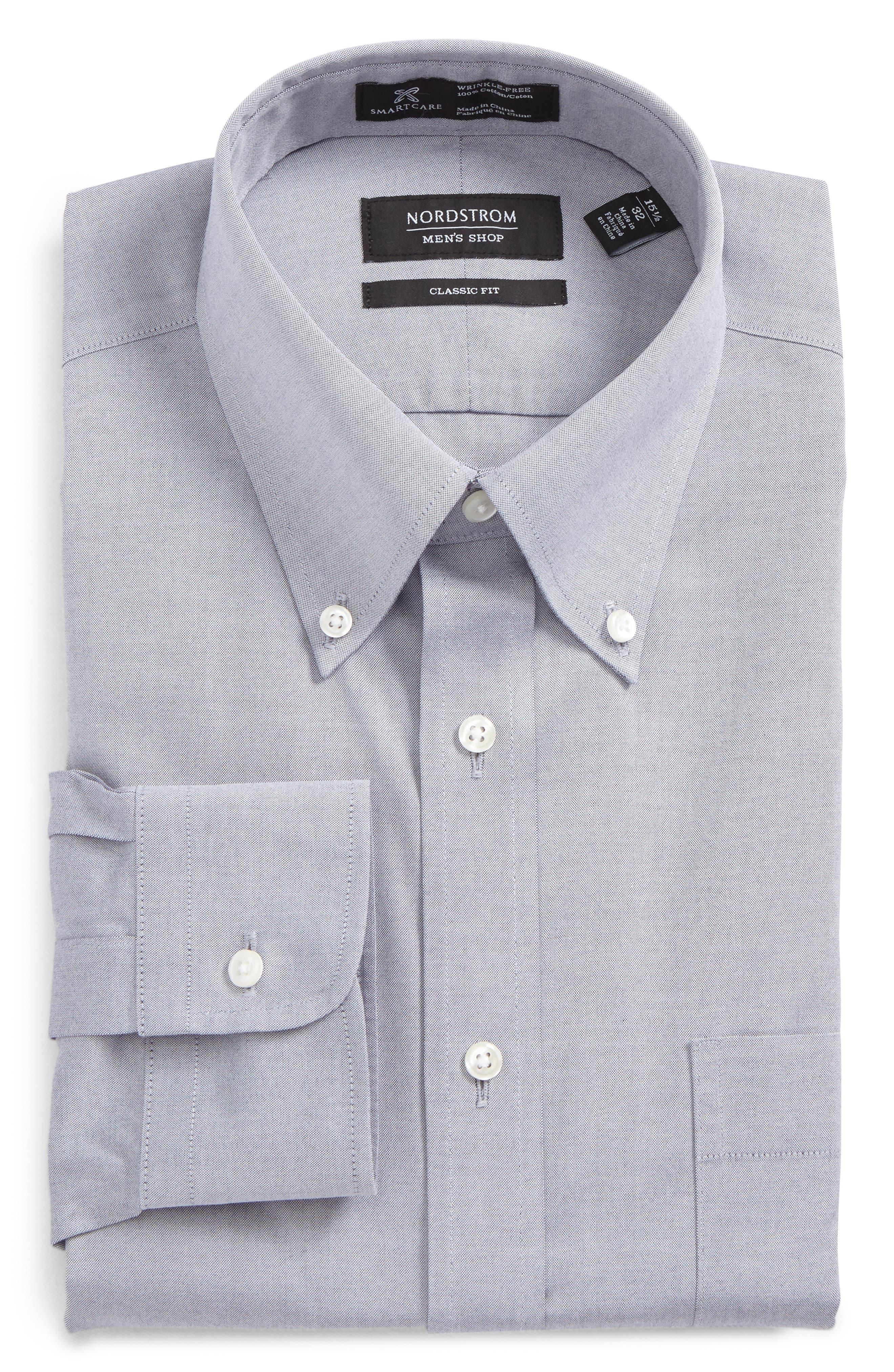 Alternate Image 1 Selected - Nordstrom Men's Shop Smartcare™ Classic Fit Pinpoint Dress Shirt (Online Only)