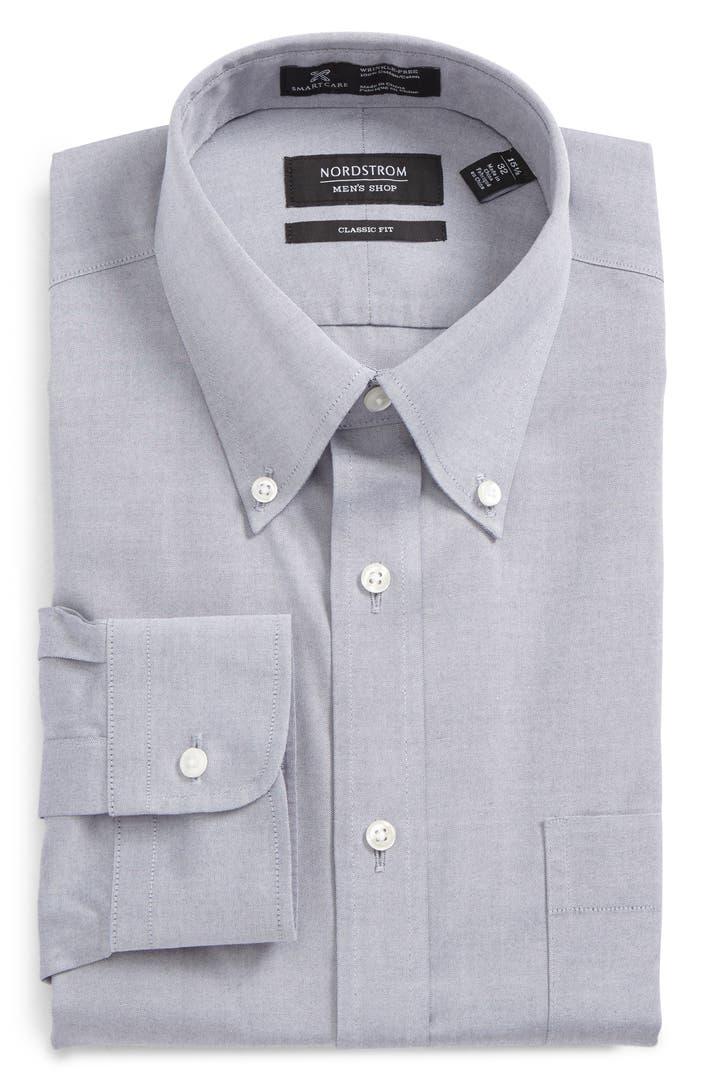 Nordstrom men 39 s shop smartcare classic fit pinpoint dress for Mens pinpoint dress shirts