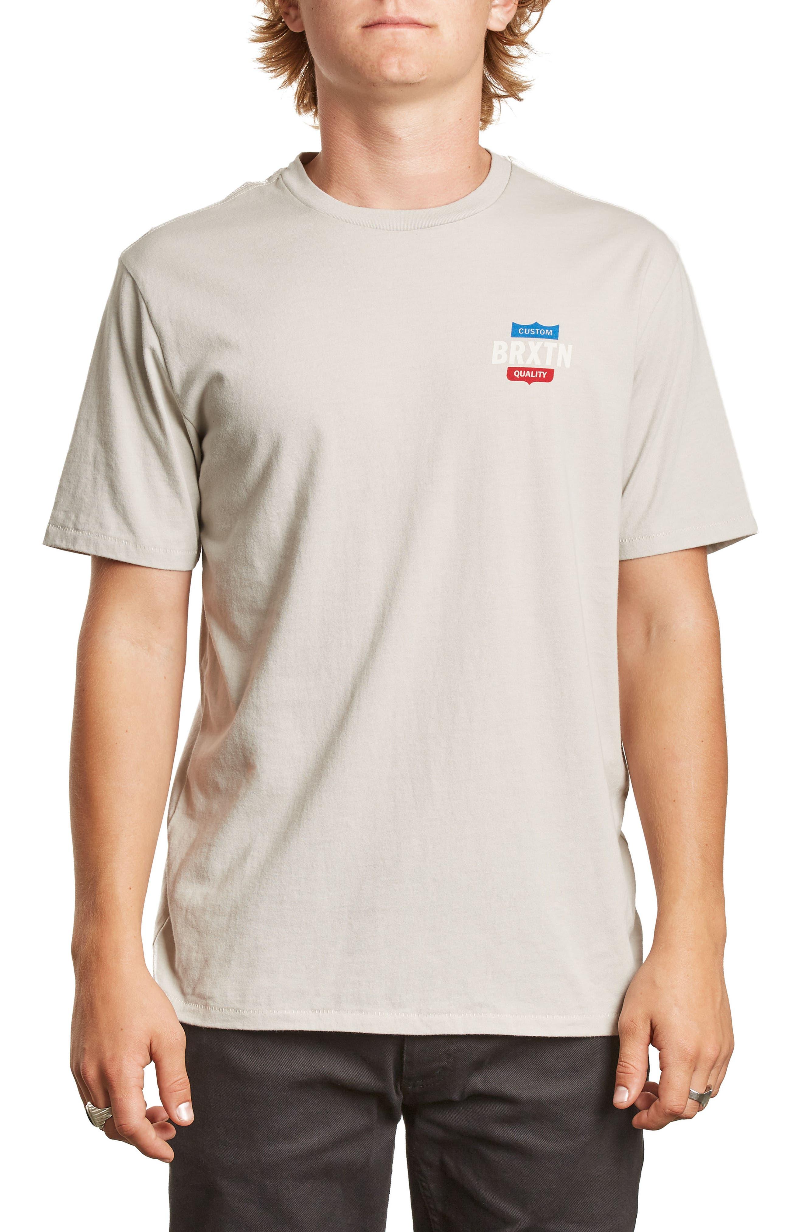 Garth Premium T-Shirt,                         Main,                         color, Stone