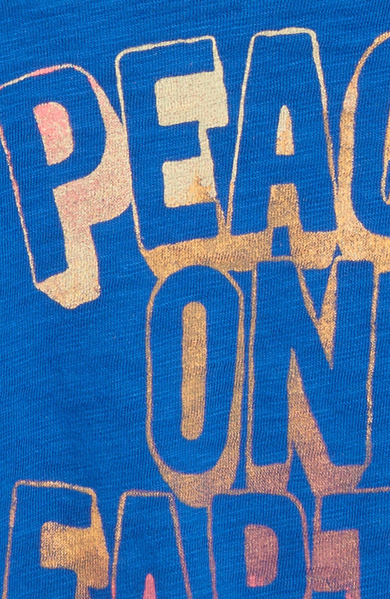 Peek Peace on Earth T-Shirt,                             Alternate thumbnail 2, color,                             Navy