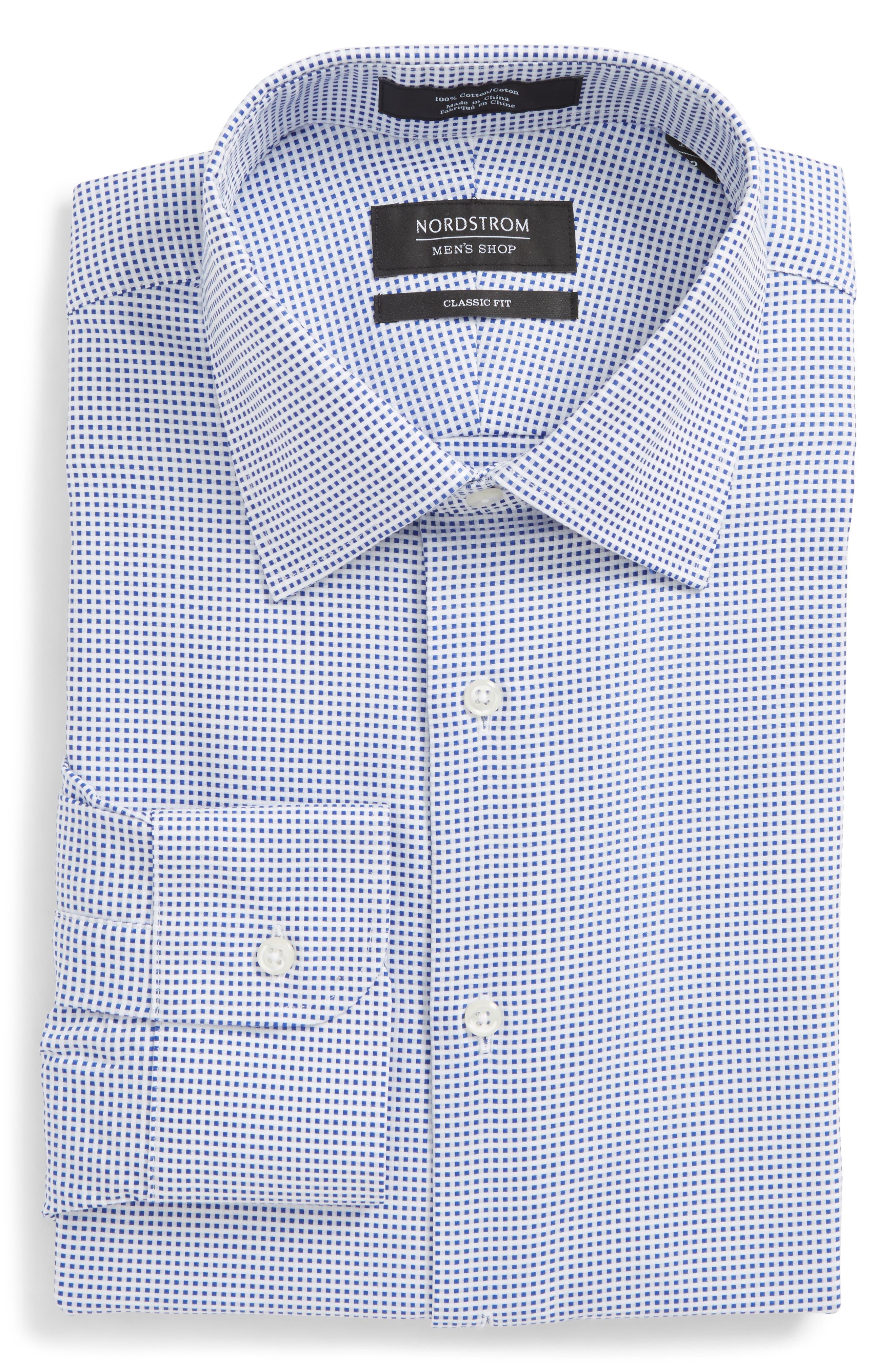 Alternate Image 6  - Nordstrom Men's Shop Classic Fit Microcheck Dress Shirt