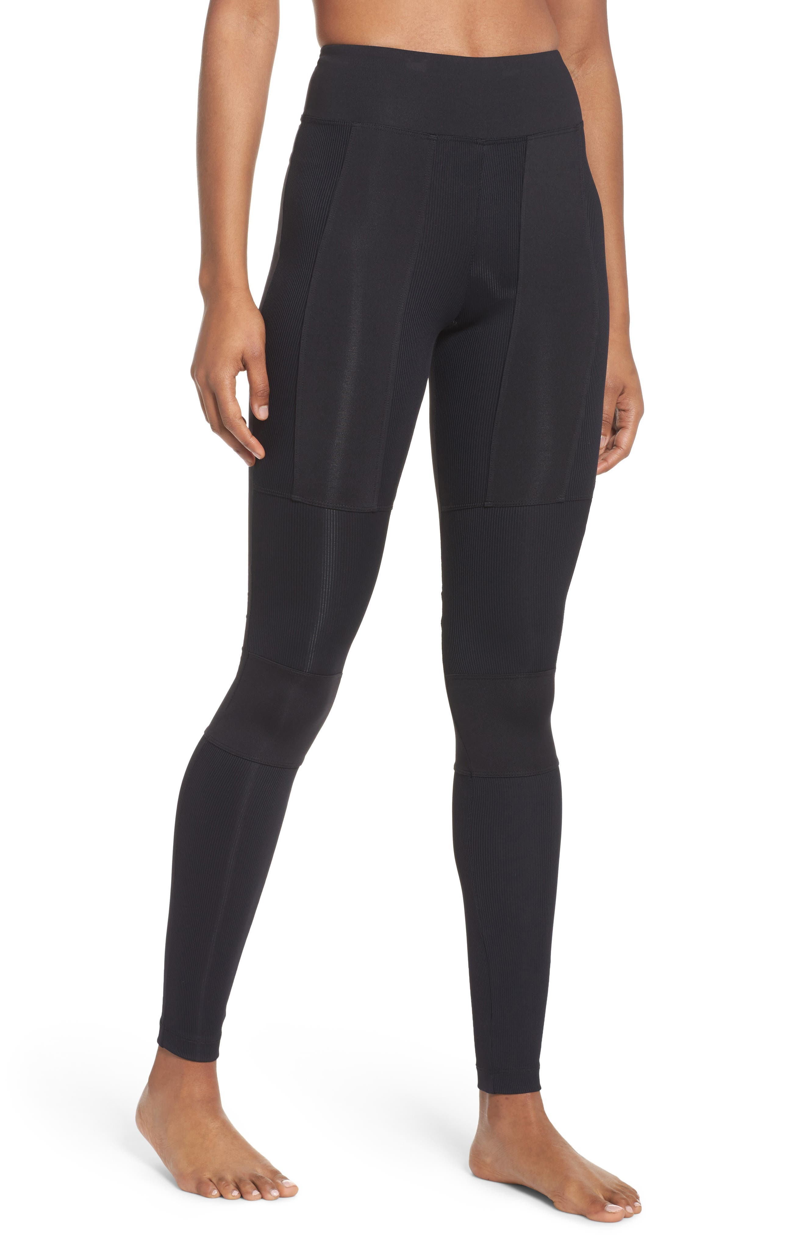 Rappel High Waist Leggings,                         Main,                         color, Black
