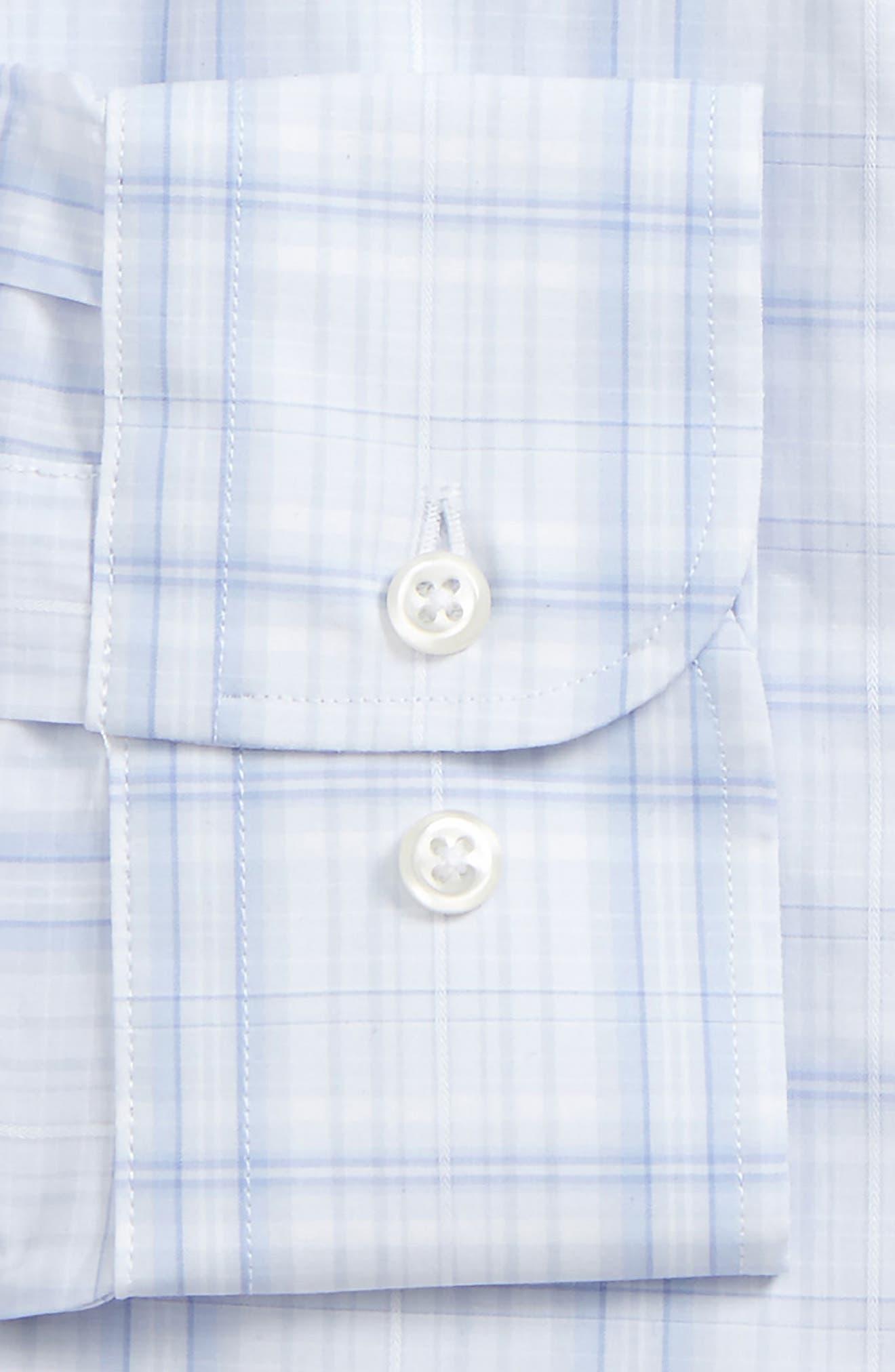 Traditional Fit Check Dress Shirt,                             Alternate thumbnail 5, color,                             Blue Xenon