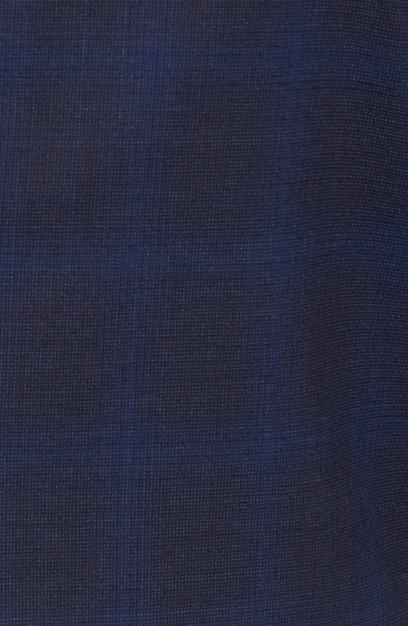 Classic Fit Plaid Wool Suit,                             Alternate thumbnail 7, color,                             Navy
