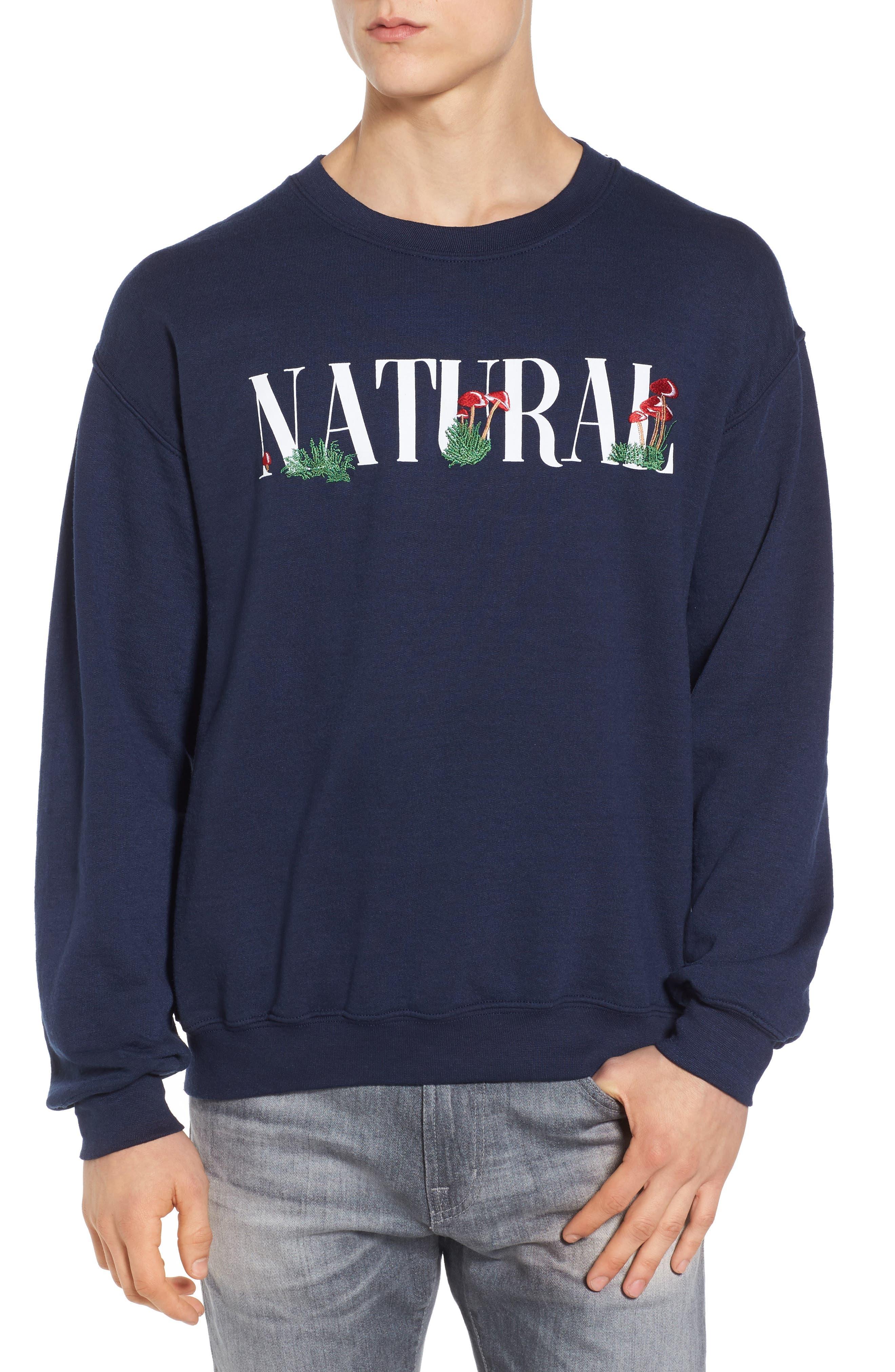 Natural Mushroom Sweatshirt,                         Main,                         color, Blue
