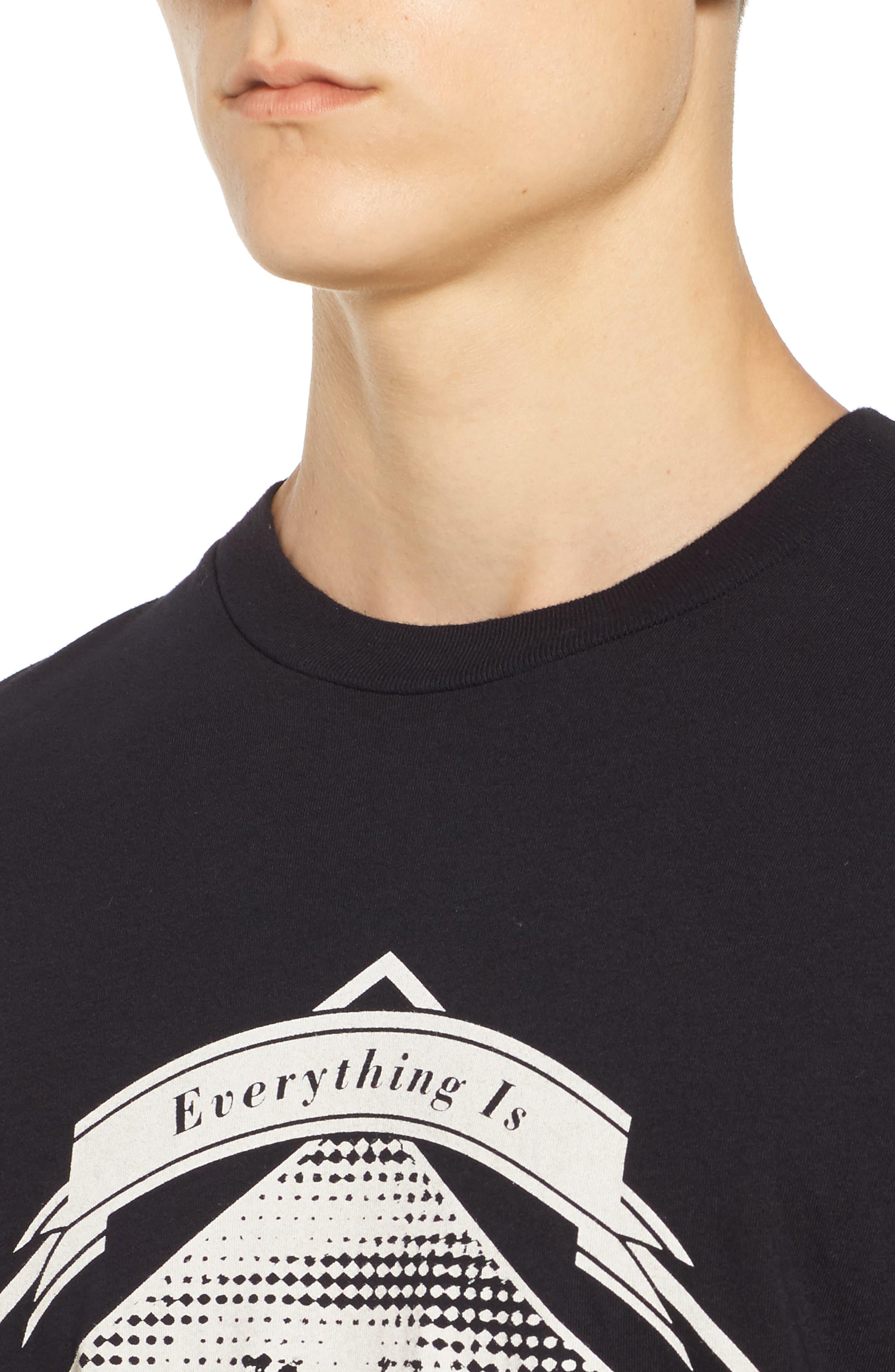 Everything is Photoshopped T-Shirt,                             Alternate thumbnail 4, color,                             Black