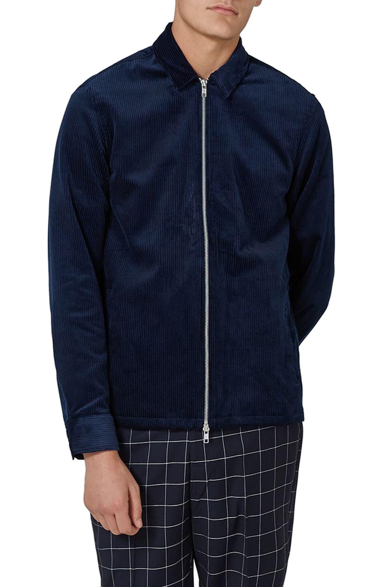 Corduroy Shirt Jacket,                         Main,                         color, Blue