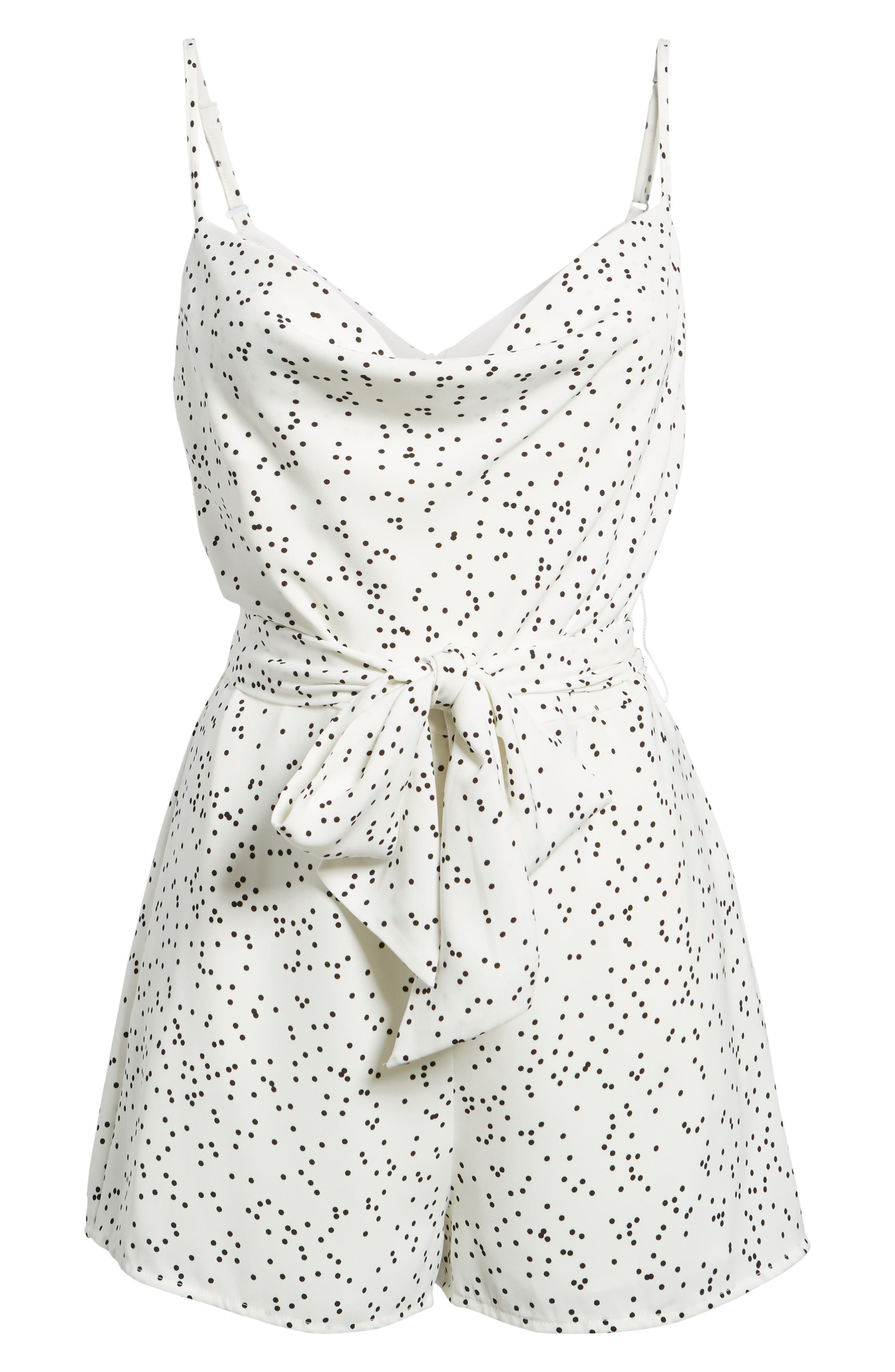 Embrace Me Romper,                             Alternate thumbnail 6, color,                             White W Black Spot