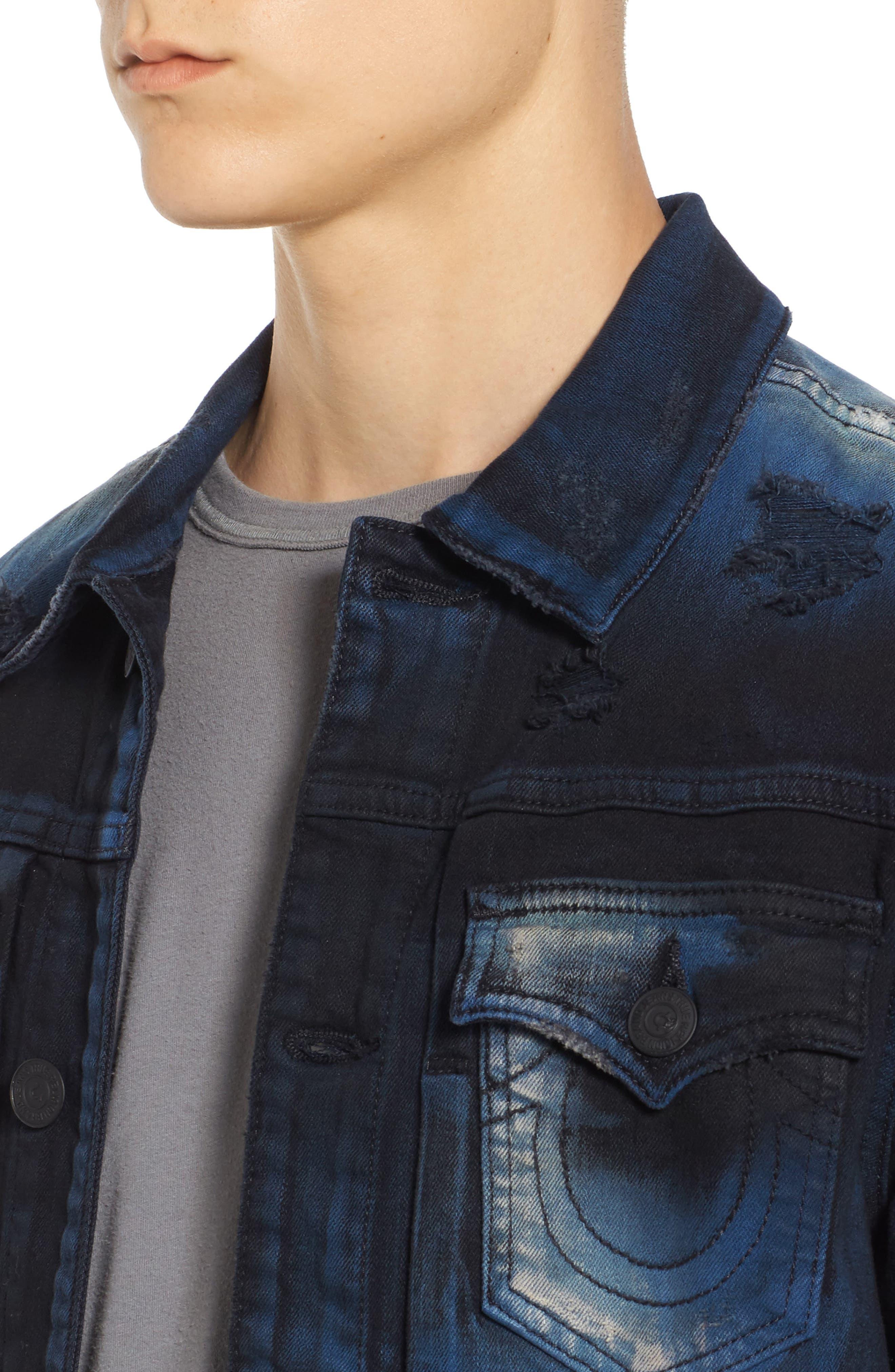 Alternate Image 4  - True Religion Brand Jeans Dylan Renegade Denim Jacket