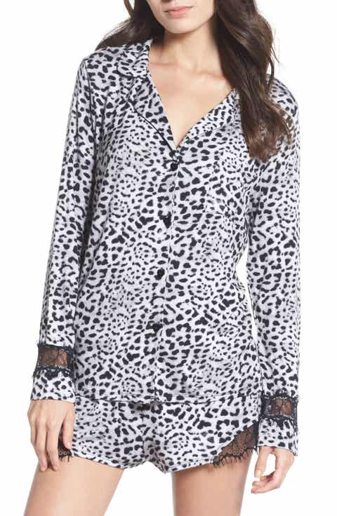 Betsey Johnson Notch Collar Short Pajamas