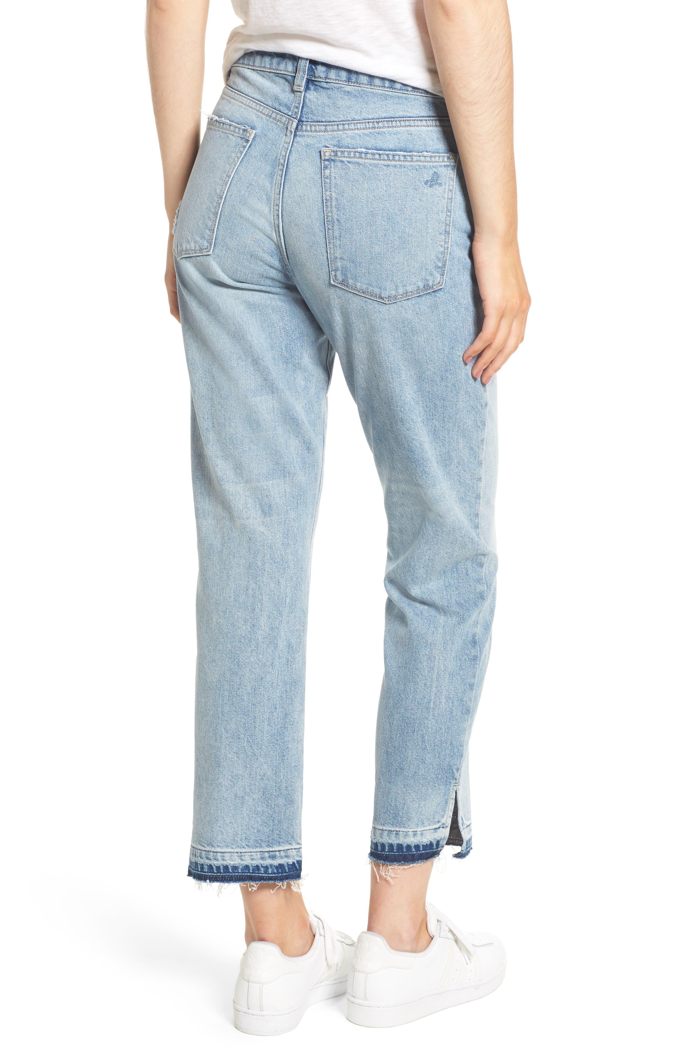 Patti Crop Straight Leg Jeans,                             Alternate thumbnail 2, color,                             Deluxe