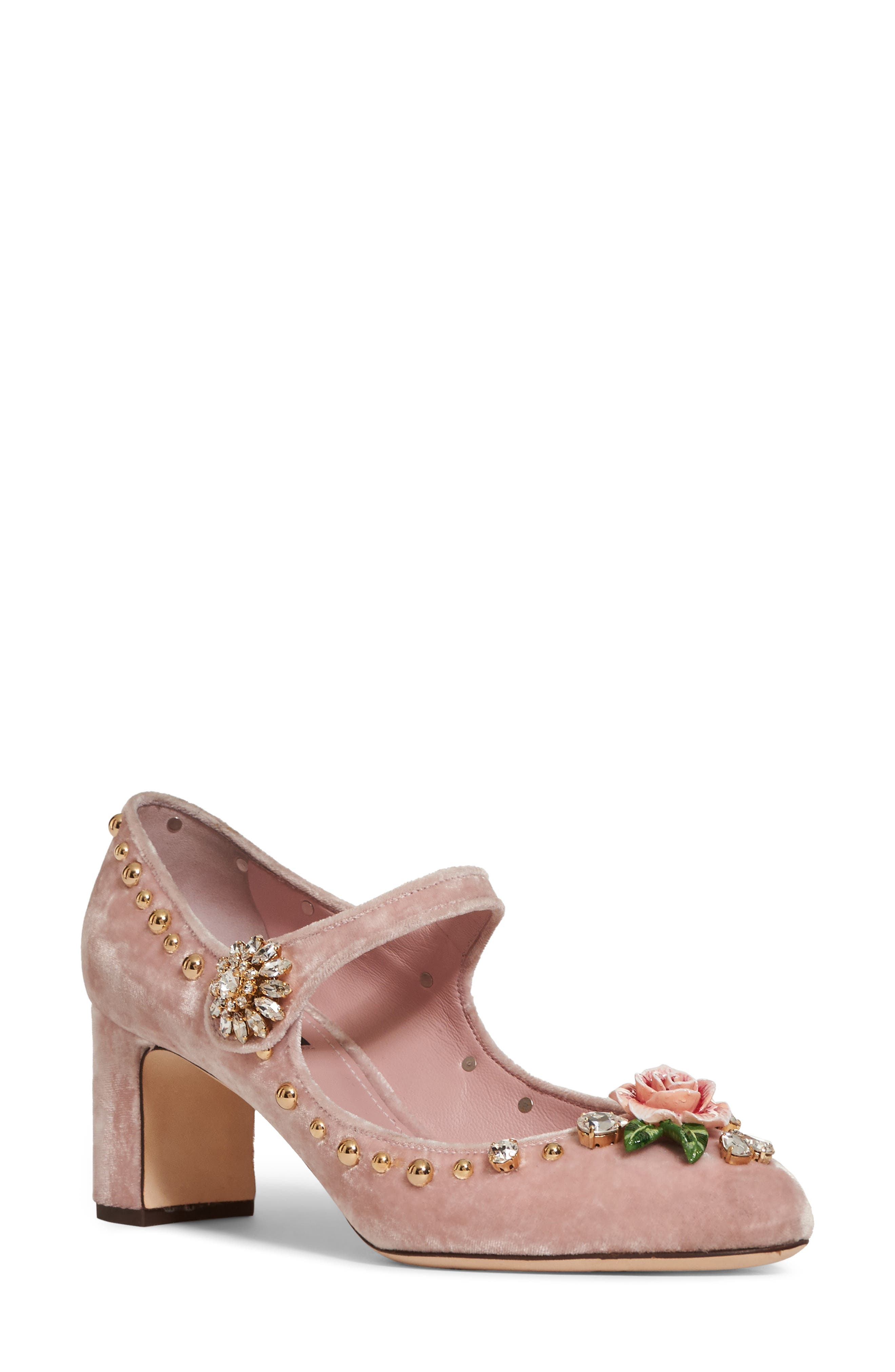 Rose Mary Jane Pump,                         Main,                         color, Pink