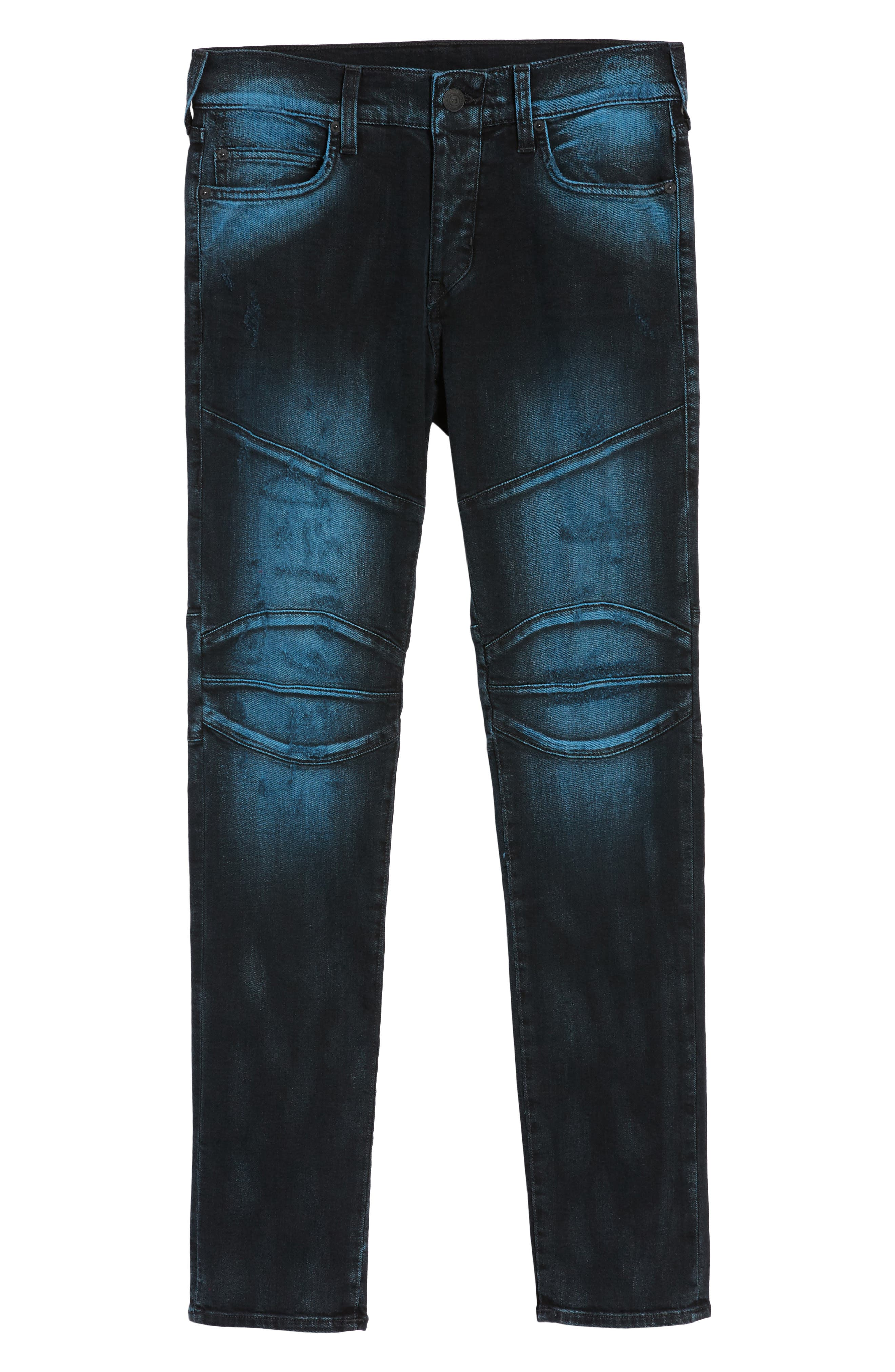 Rocco Skinny Fit Jeans,                             Alternate thumbnail 6, color,                             Blue Blaze