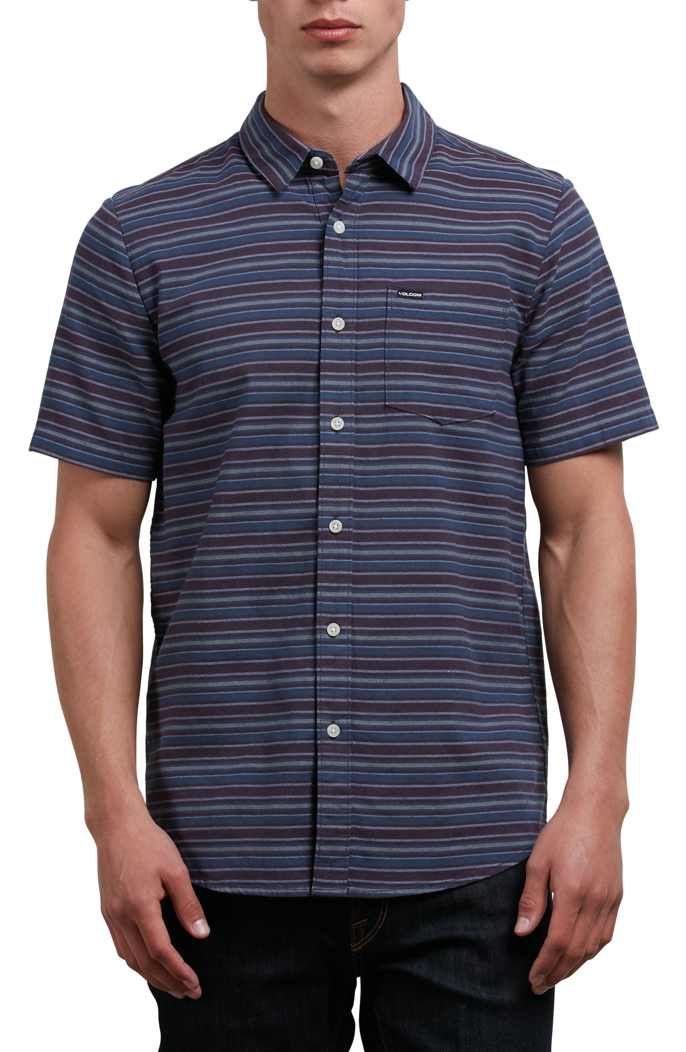 Sable Stripe Woven Shirt,                             Main thumbnail 1, color,                             Blue