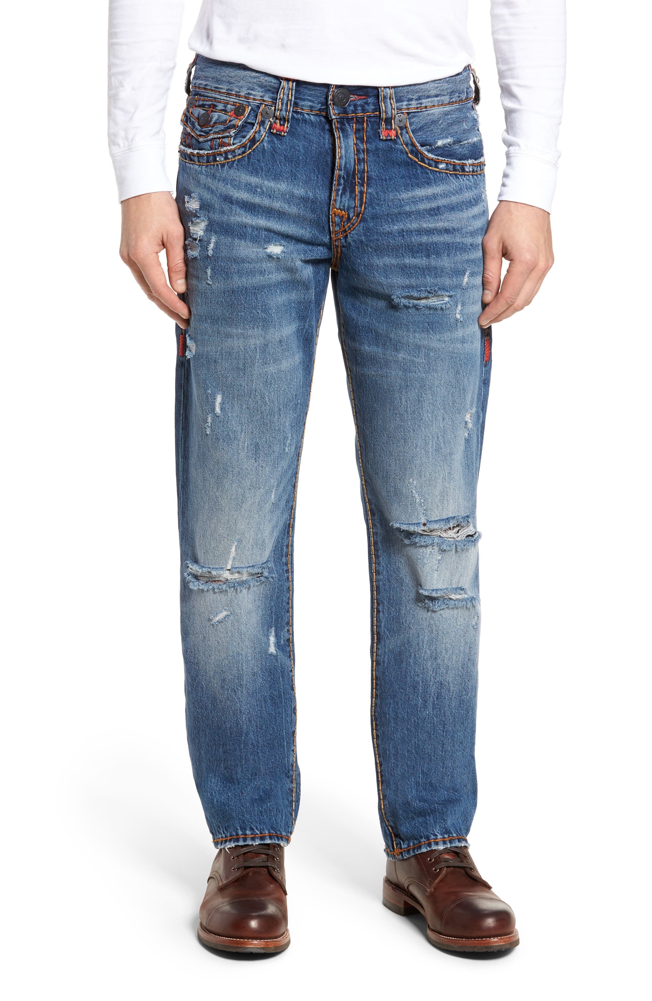 Alternate Image 1 Selected - True Religion Brand Jeans Ricky Relaxed Fit Jeans (Worn Ever Fade)