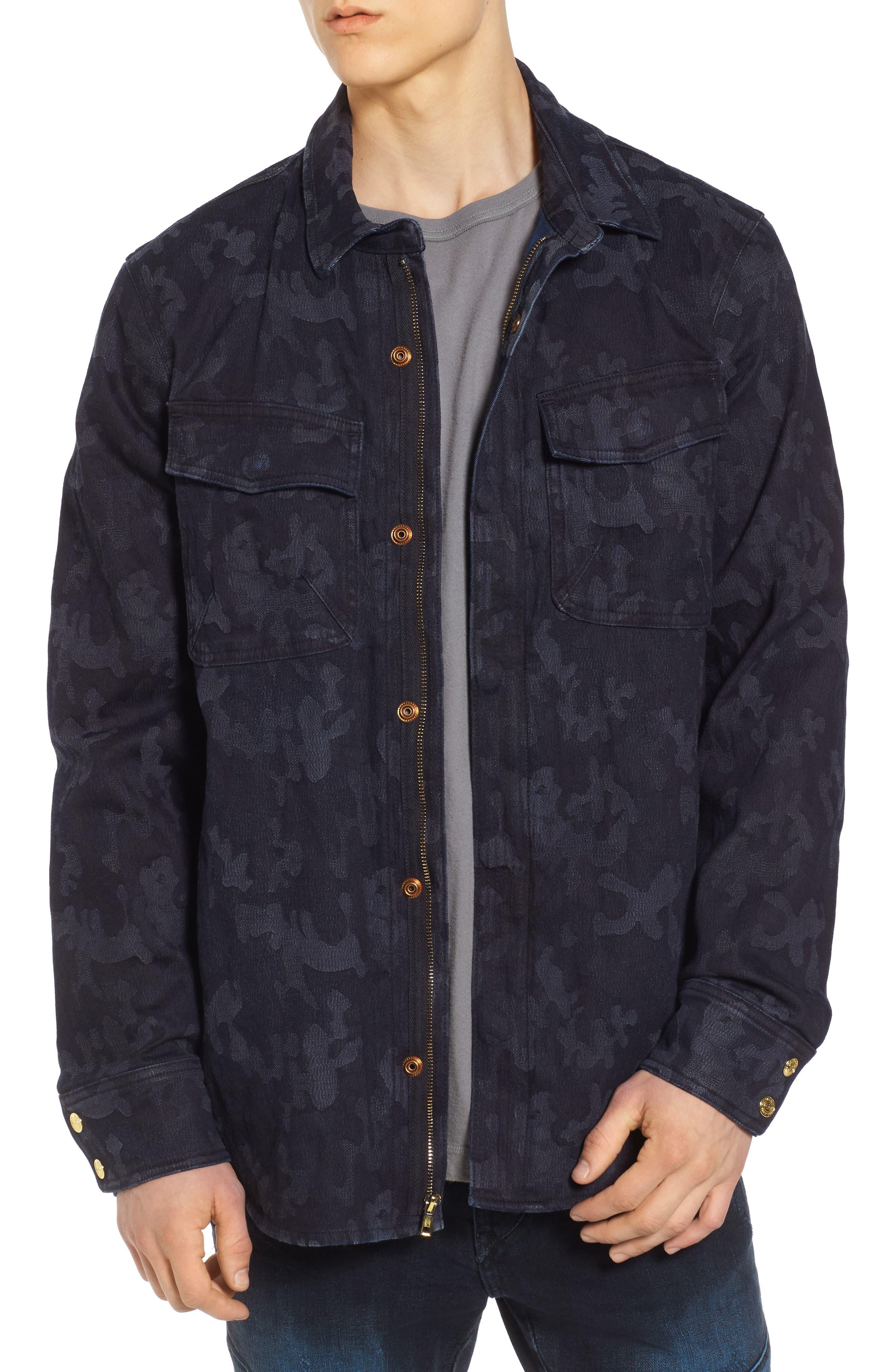 Camo Field Jacket,                         Main,                         color, Indigo Camo