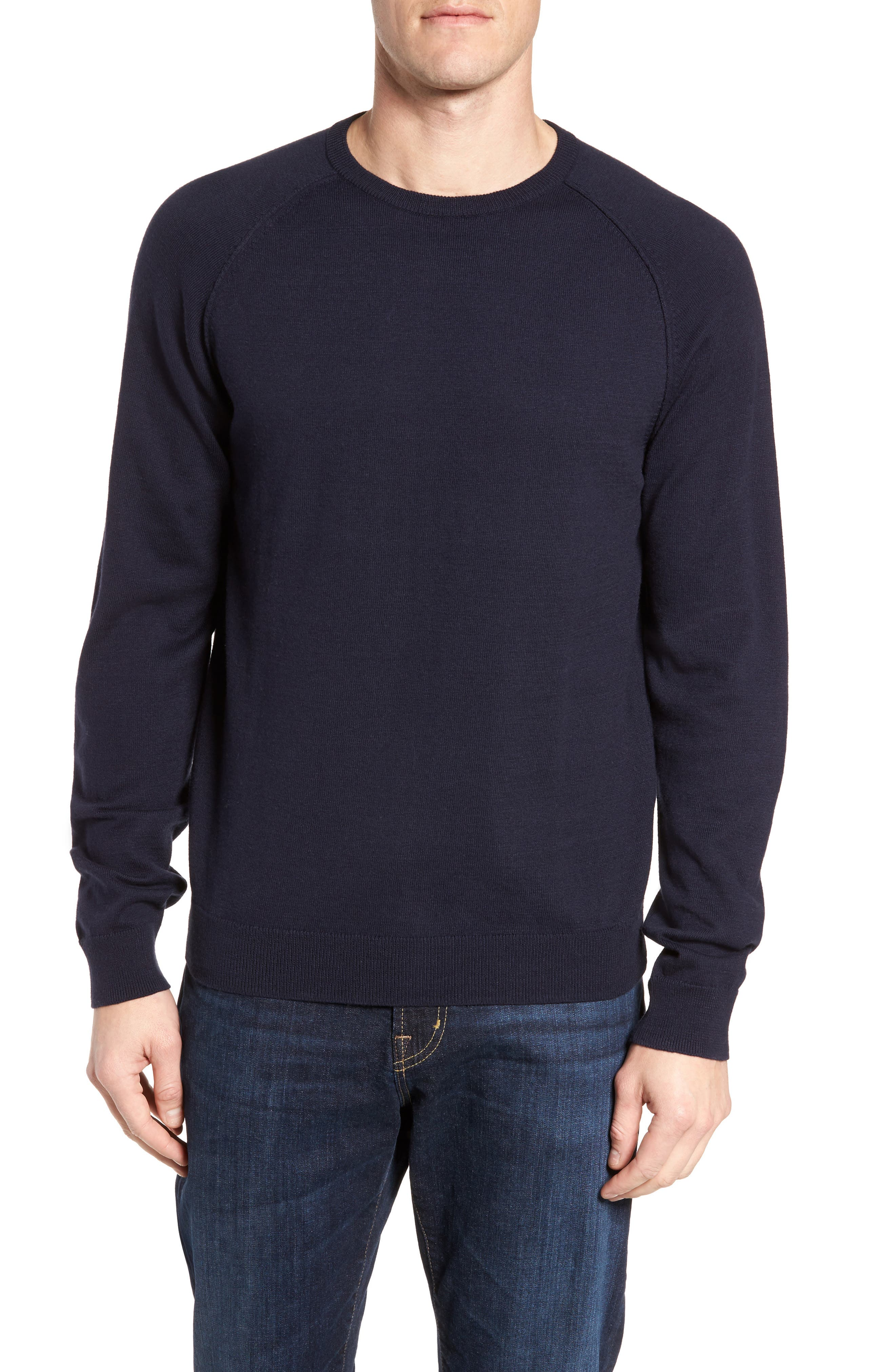 Nordstrom Men's Shop Saddle Shoulder Cotton & Cashmere Sweater
