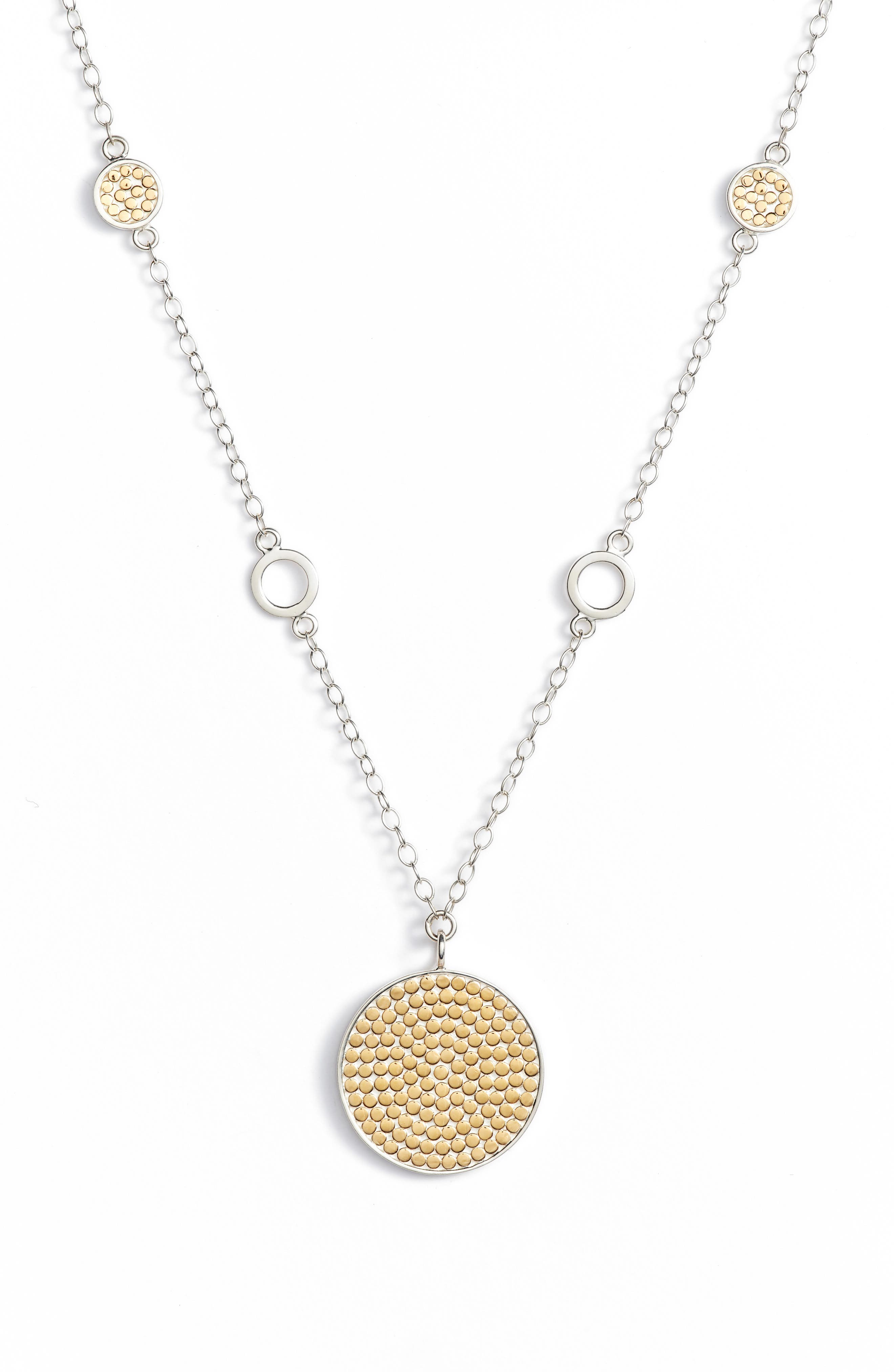 Anna Beck Two-Tone Reversible Long Pendant Necklace (Special Purchase)