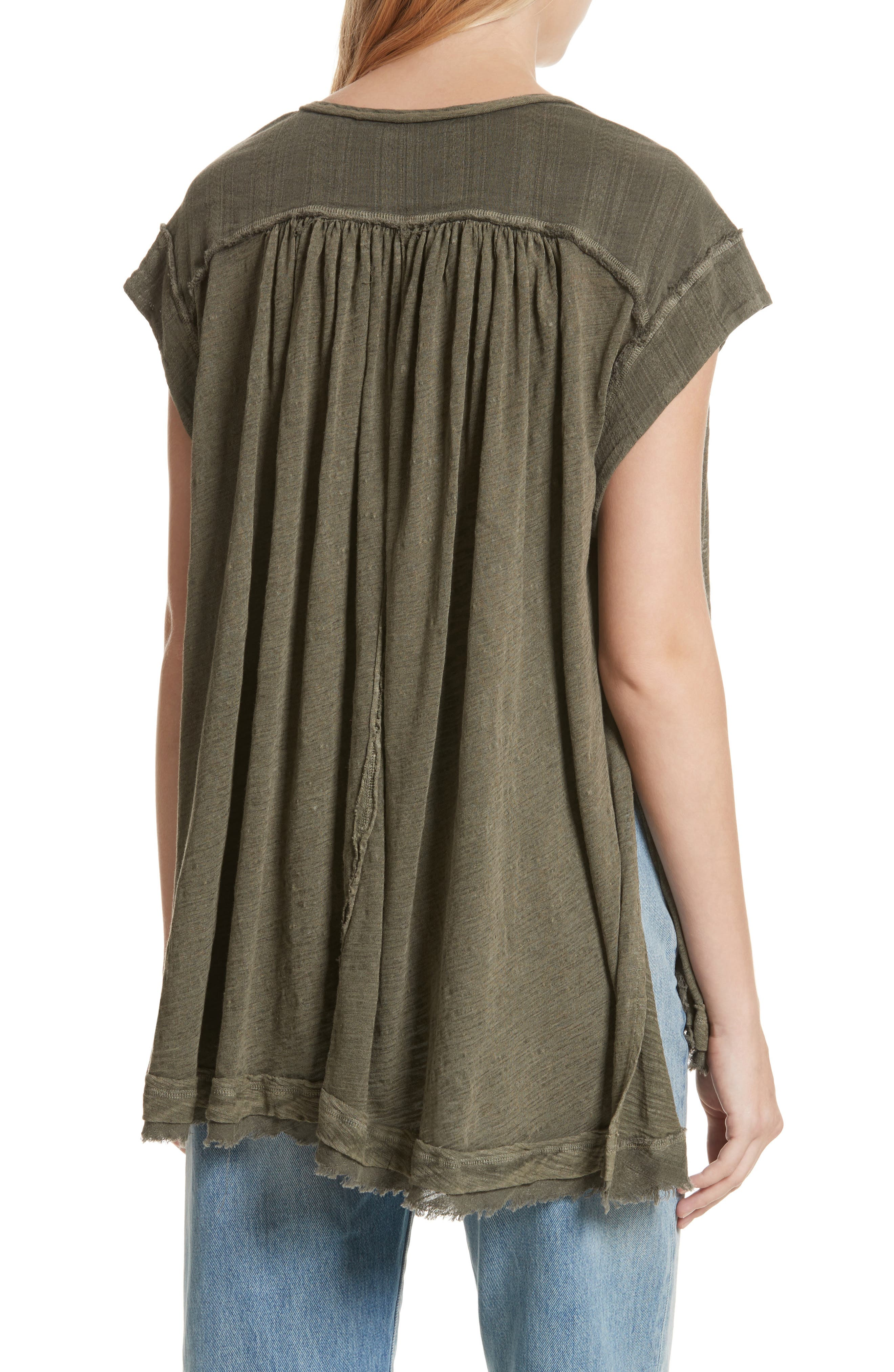 Aster Henley Top,                             Alternate thumbnail 2, color,                             Army
