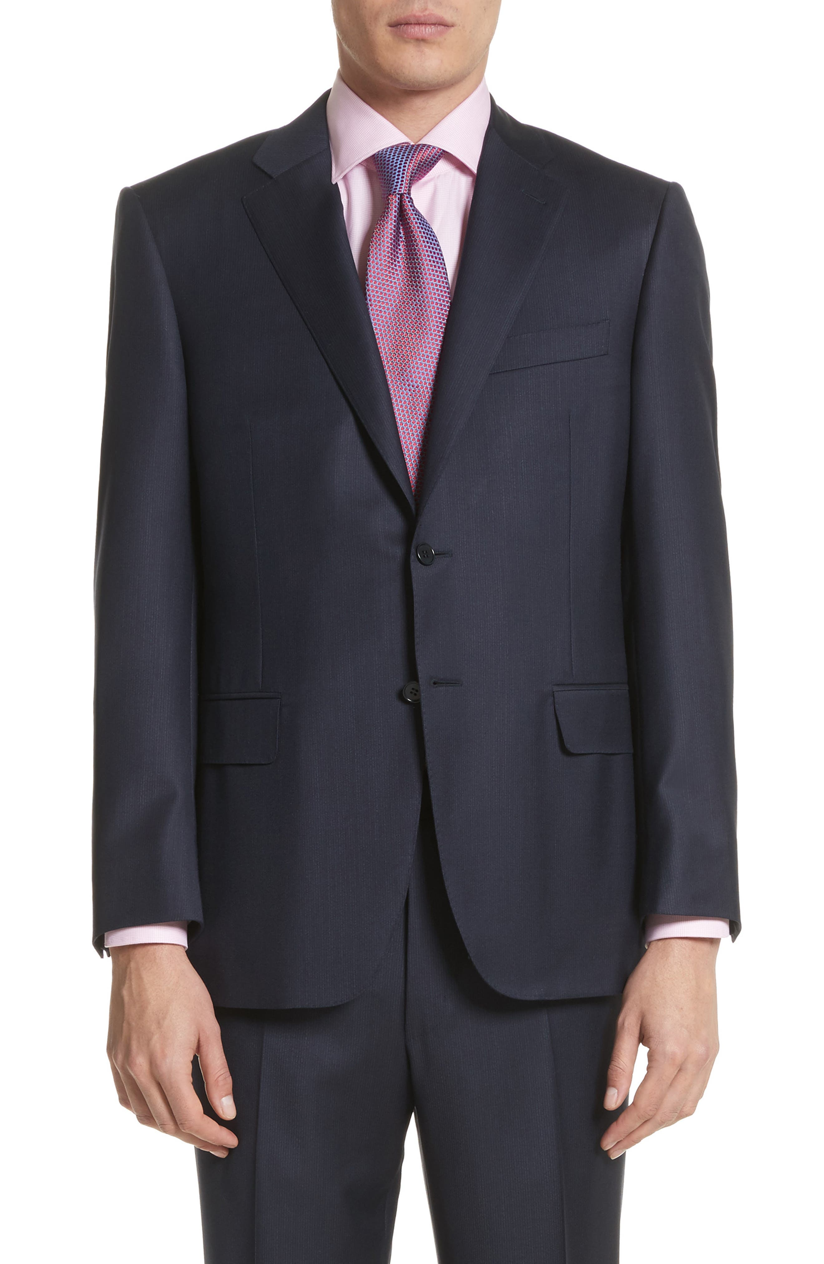 Alternate Image 5  - Canali Classic Fit Stripe Wool Suit